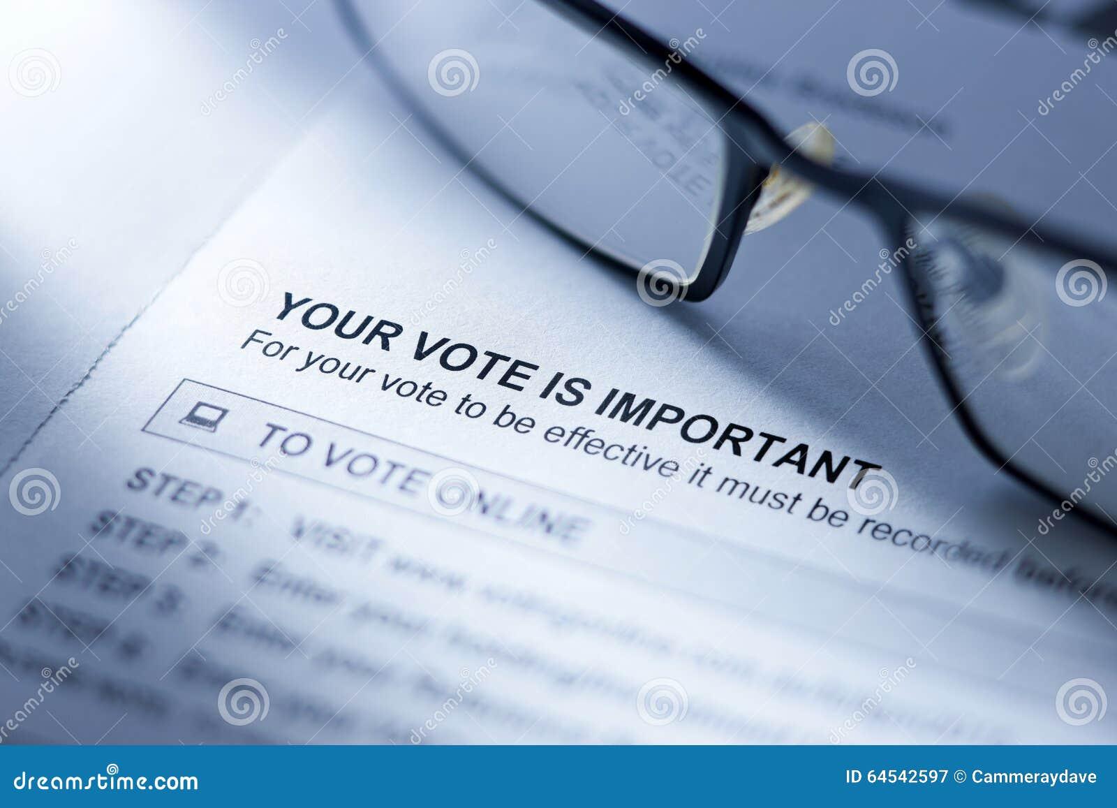 Głosować głosowanie Formularzowego biznes