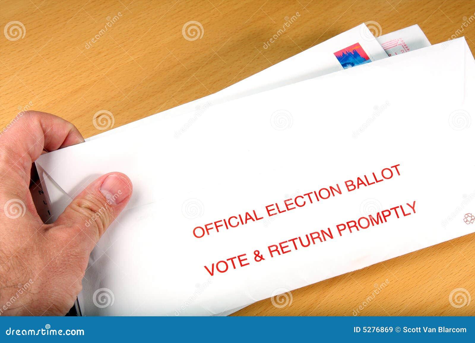 Głosowanie pocztę wyborca odbiorczych