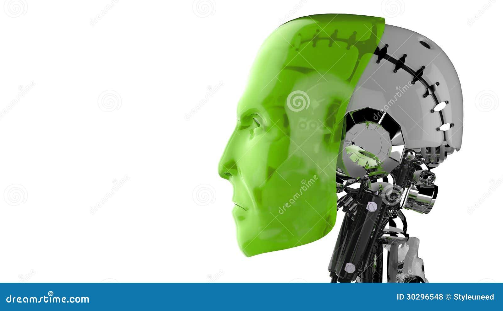 Głowa mechaniczny mężczyzna