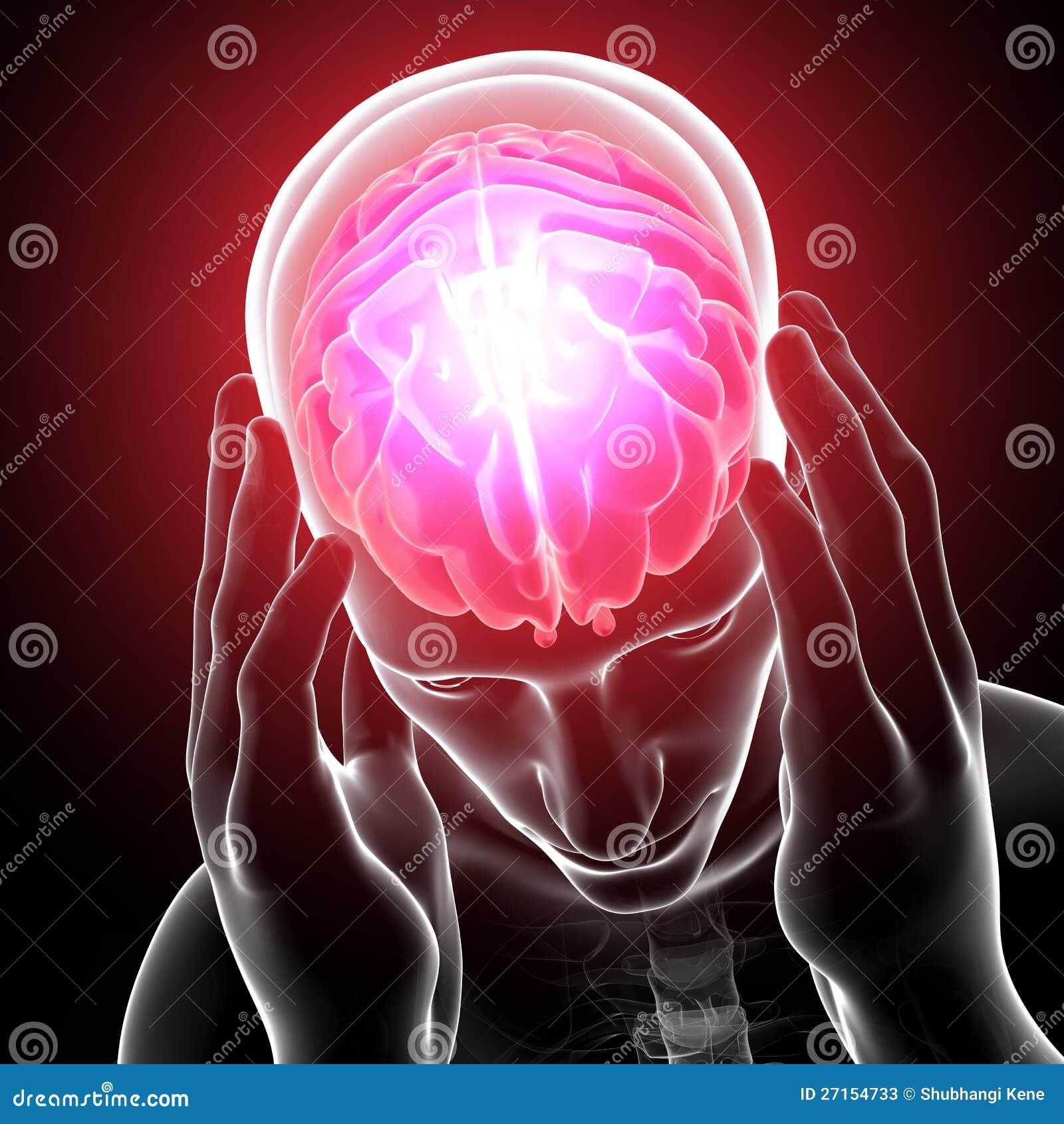 Głowa podkreślający ból