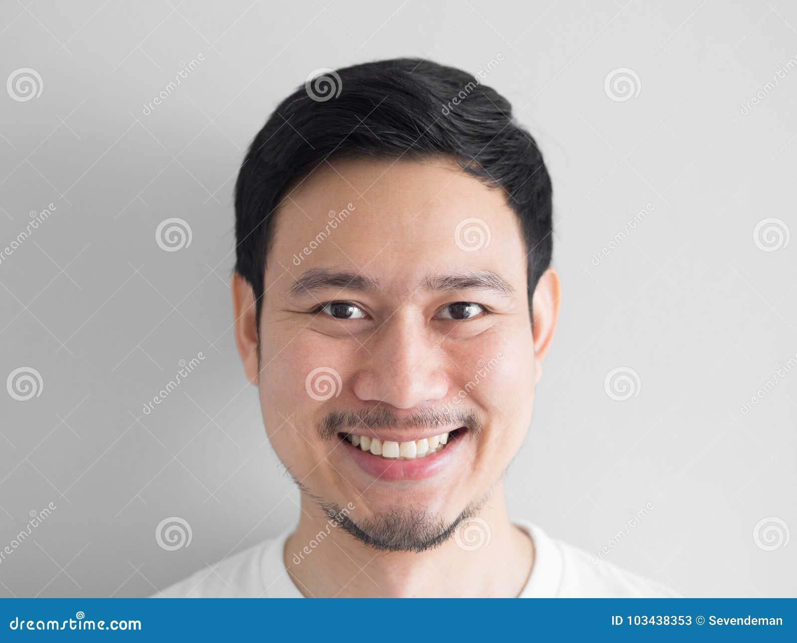 Głowa strzał szczęśliwy twarz mężczyzna