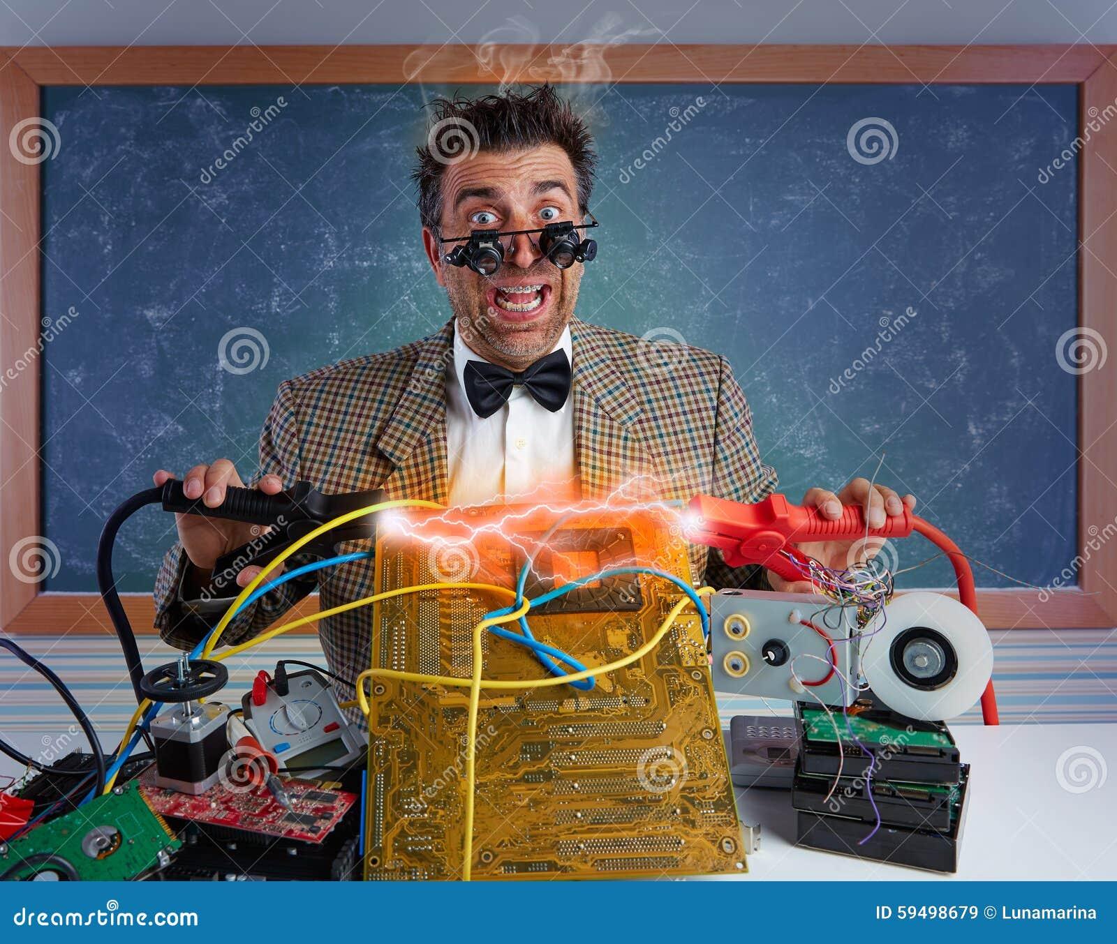 Głupek elektronika technika skrót - obwód błyskawica