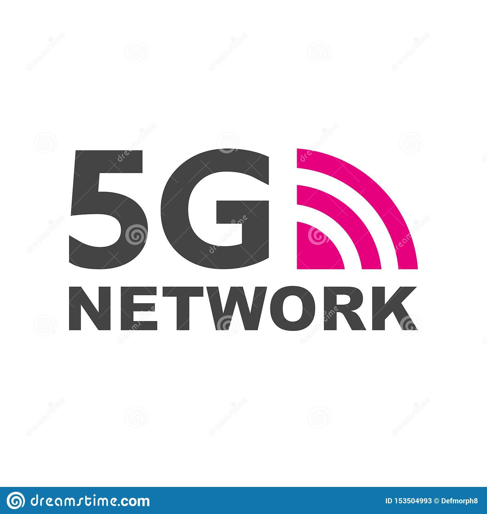 5G νέα ασύρματη σύνδεση wifi Διαδικτύου Διανυσματικό σημάδι 5G δικτύων εικονιδίων τεχνολογίας Πέμπτη καινοτόμος γενεά