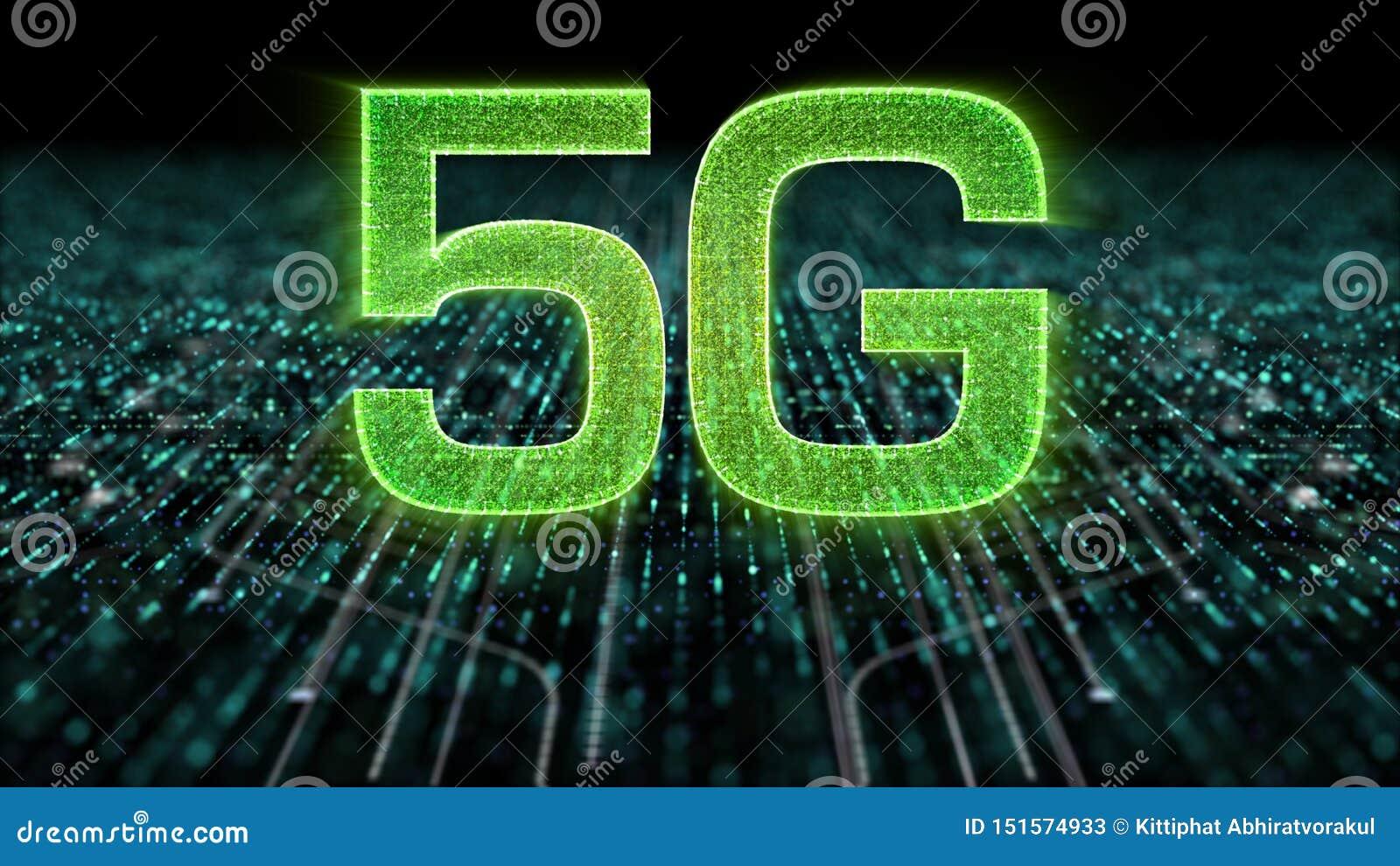 5G πέμπτη καινοτόμος γενεά υψηλής ταχύτητας εικονιδίων ψηφιακή ασύρματη