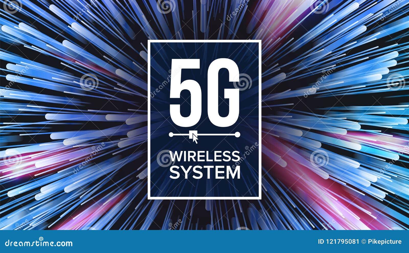 5G τυποποιημένο διάνυσμα υποβάθρου της WI-Fi Πέντε, 5η παραγωγή Μετάδοση σημάτων σύνδεση καινοτομίας υψηλής ταχύτητας Μέλλον