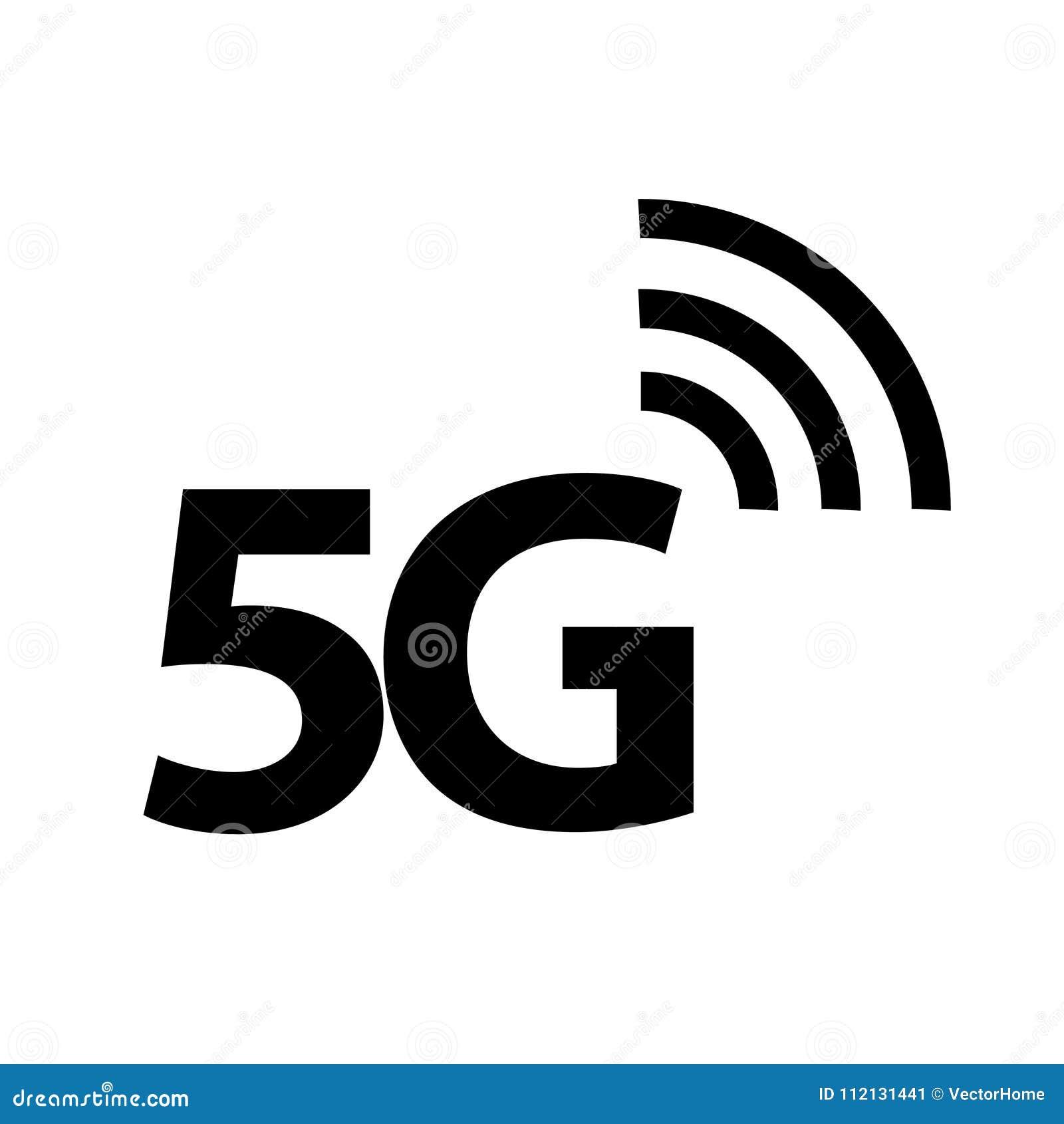 5G значок, иллюстрация вектора