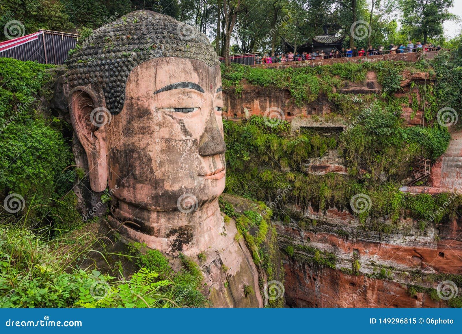 G?ant Bouddha de Leshan dans Sichuan Chine