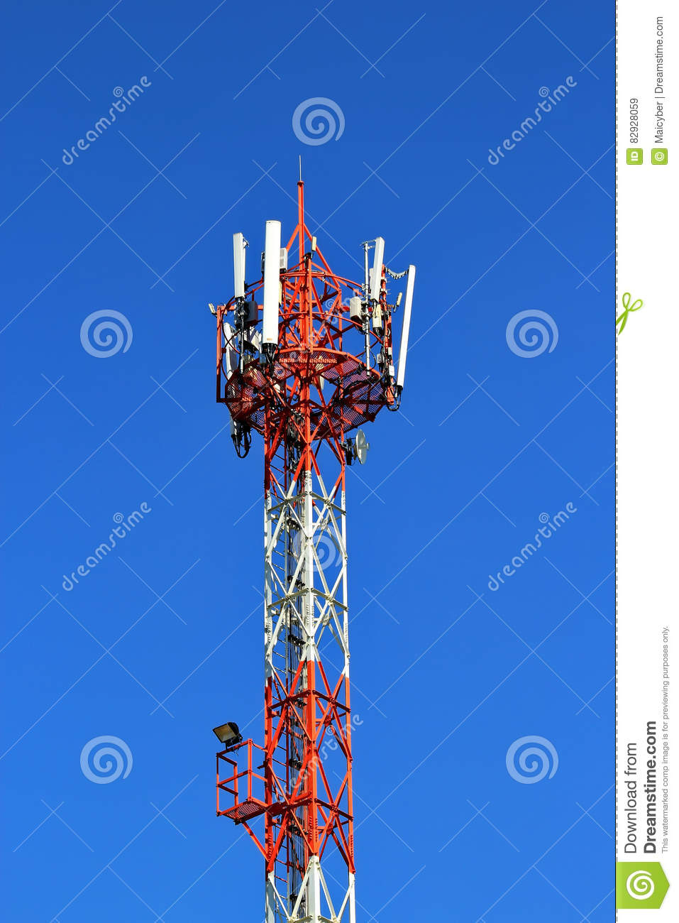 4G Cell site base station stock image  Image of bandwidth