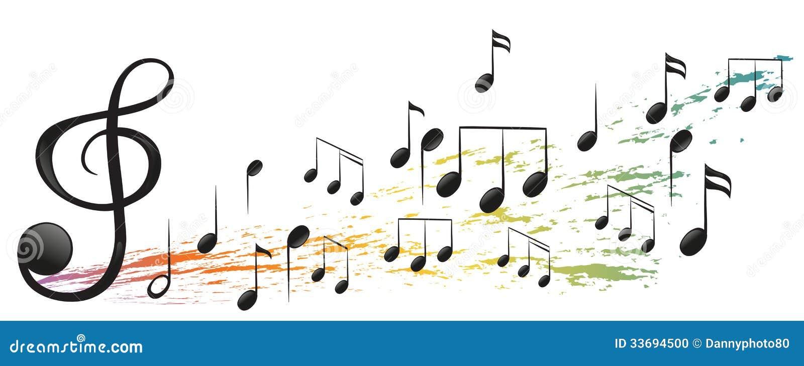Foto Nota Musical ~ A G clave E As Notas Musicais Diferentes Foto de Stock Imagem 33694500