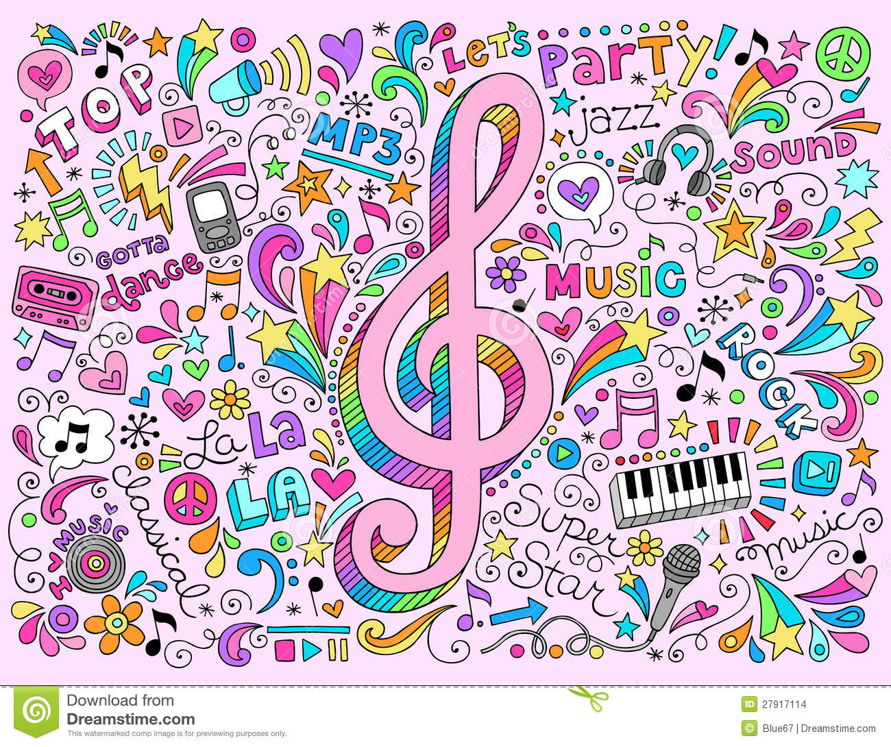 Must see Wallpaper Music Kid - g-clef-music-notes-groovy-notebook-doodles-vector-27917114  Best Photo Reference_976455.jpg