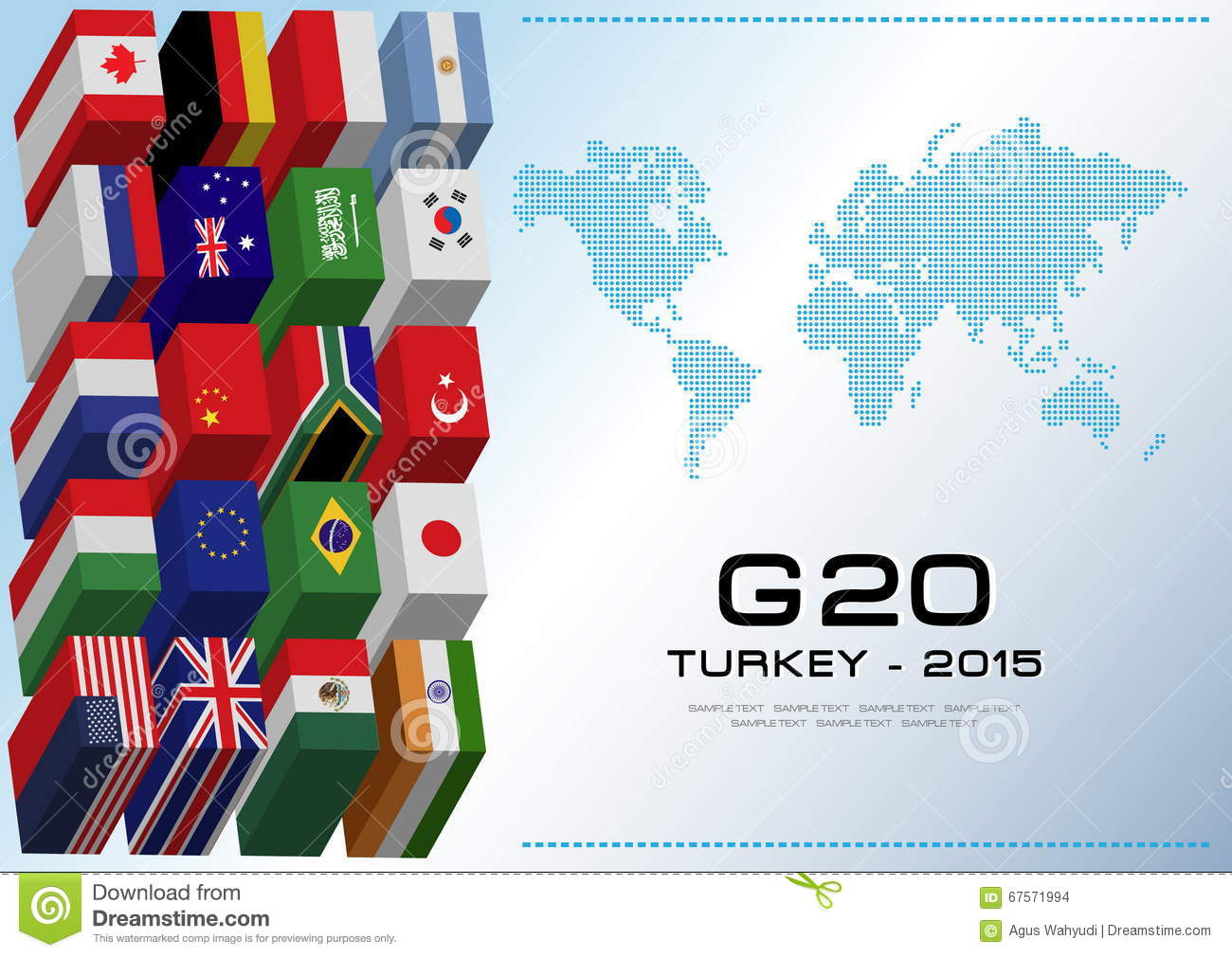 G20 countries flags or flags of the world element design for Design economico