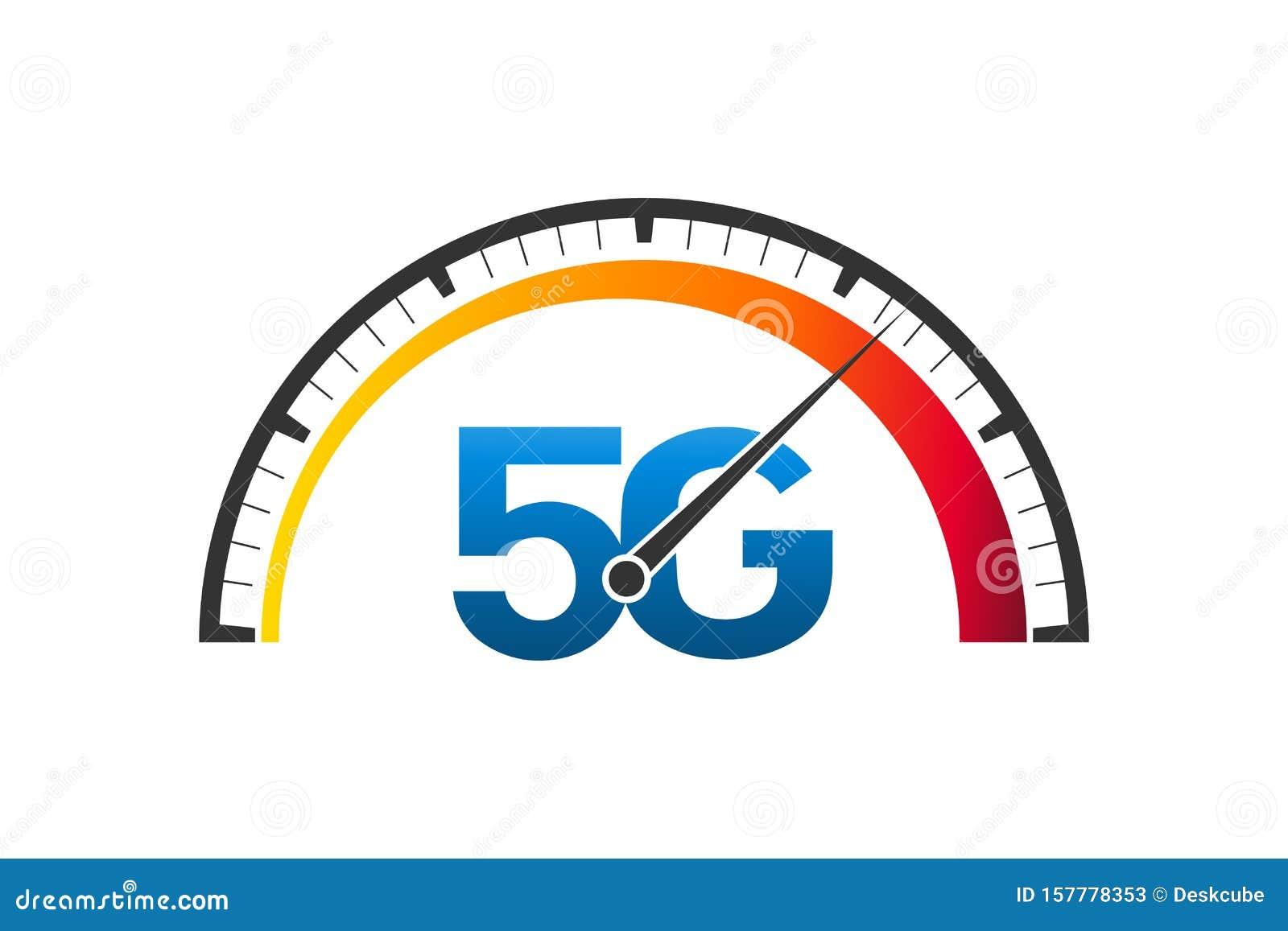 5G Fast Network Logo  Speed Internet 5g Test Concept