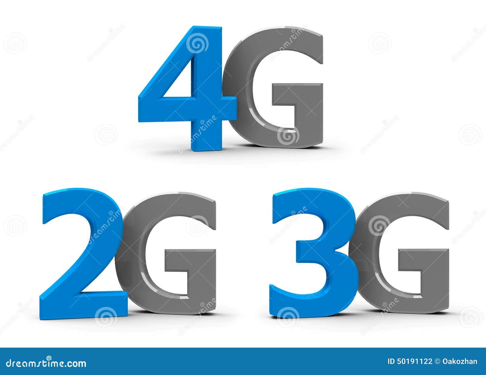 2g 3g 4g icons stock illustration   image 50191122