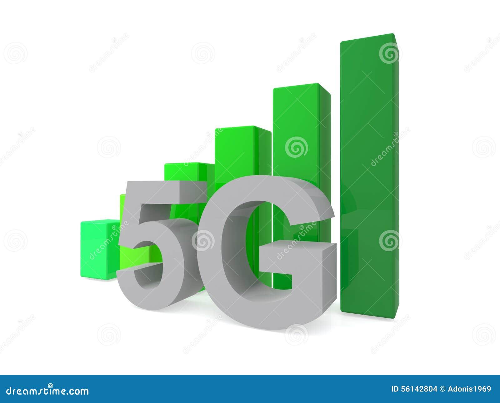 5G geïllustreerd teken