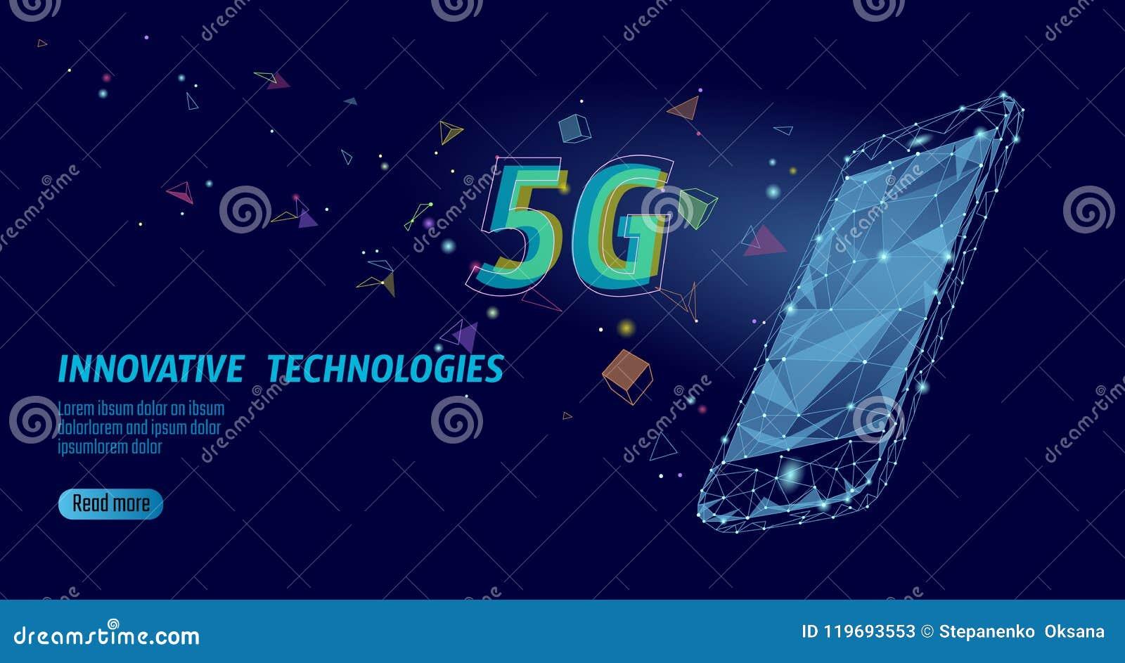 5G interneta wifi nowy bezprzewodowy związek Laptopu urządzenia przenośnego błękita 3d isometric mieszkanie Globalnej sieci wysok