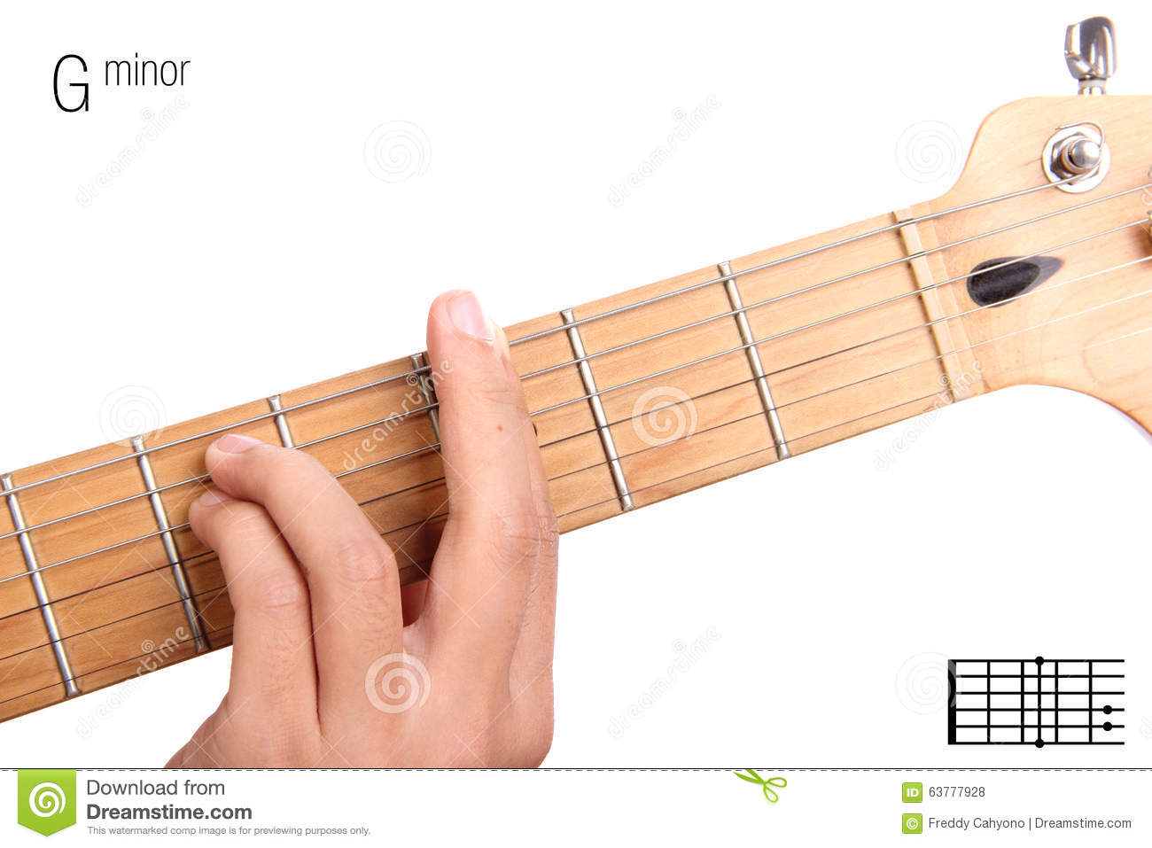 G Minor Guitar Chord Tutorial Stock Photo Image Of Neck Example