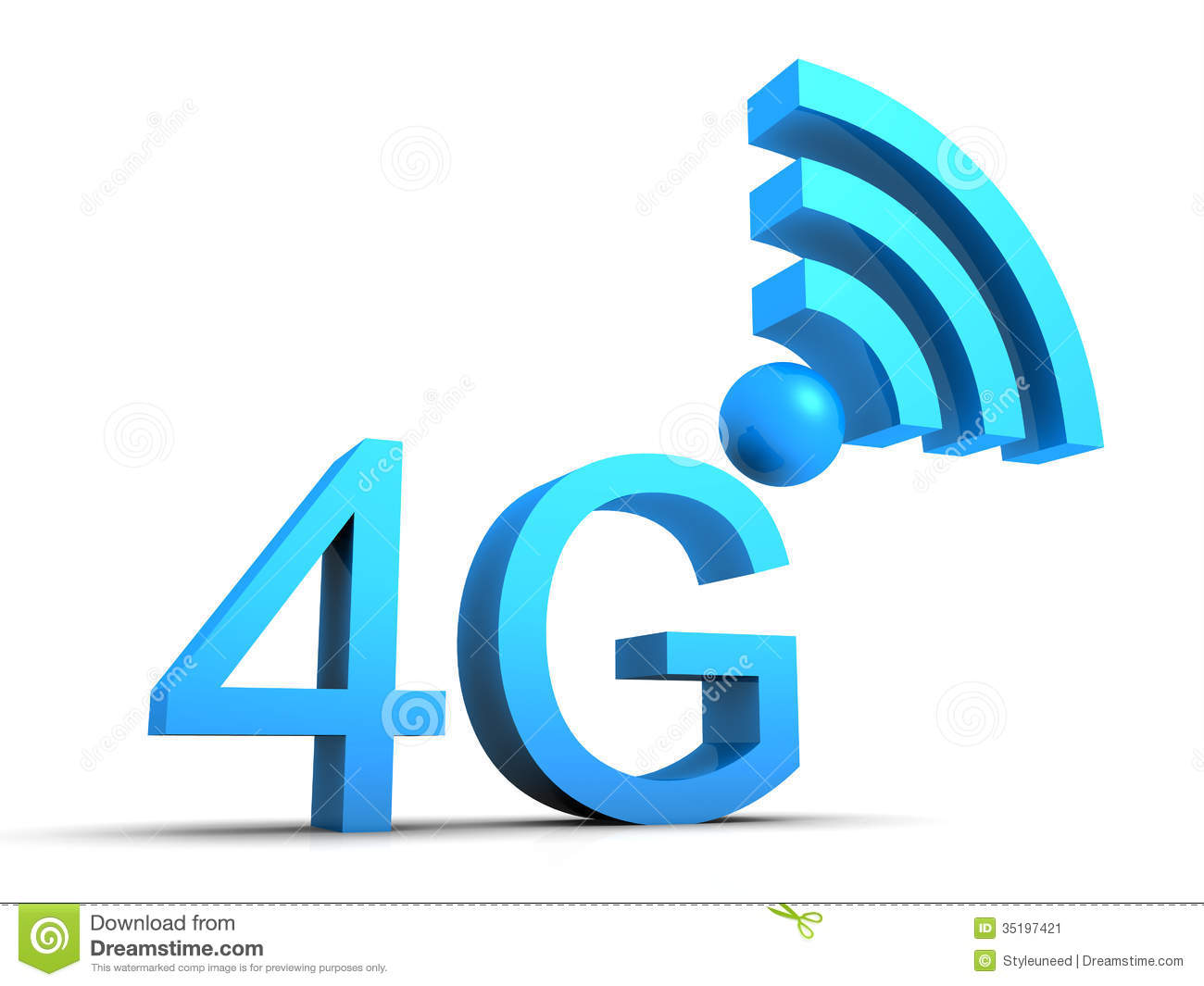 4g Mobile Connection Symbol Stock Image - Image: 35197421