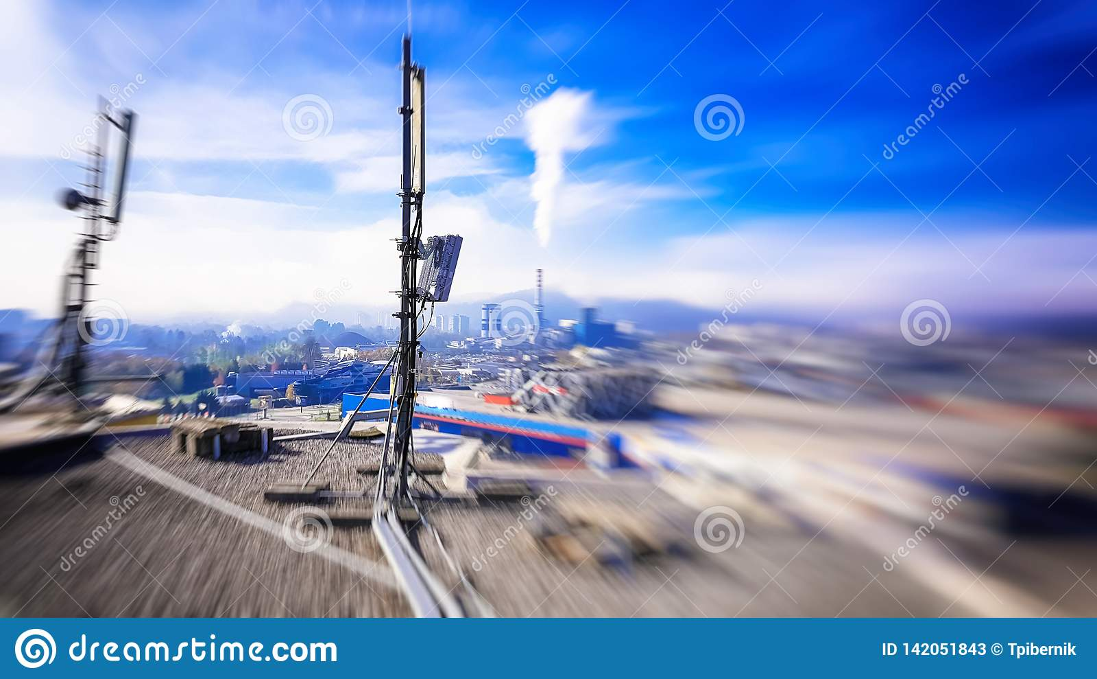 5G Mobile Telecommunication Smart Cellular Radio Network