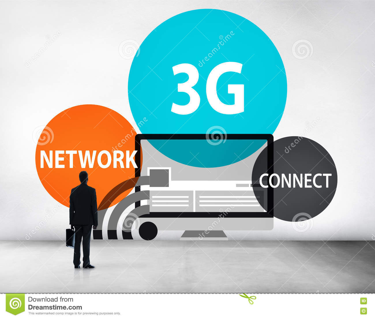 3g Networking Technology Innovation Connection Concept Stock Image Network Diagram