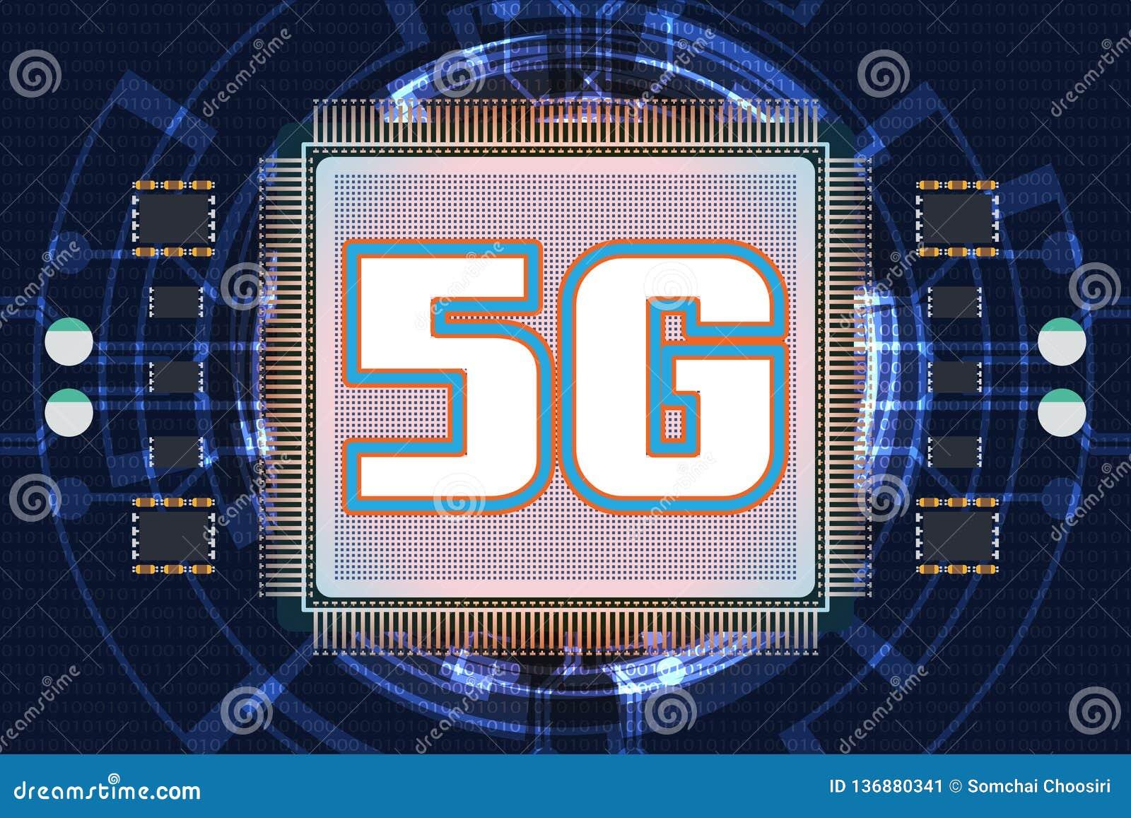 5G nowy bezprzewodowy połączenie z internetem