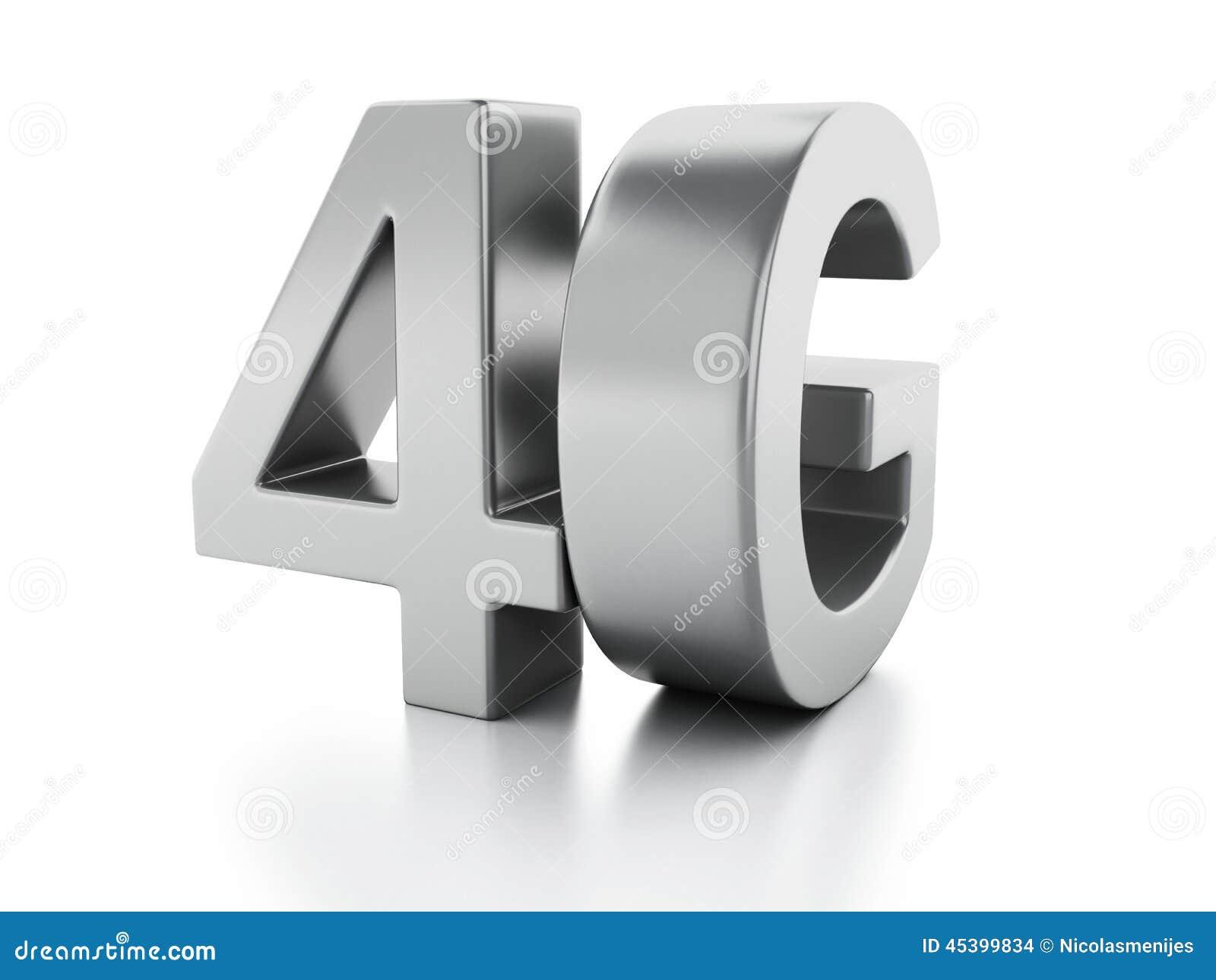 4G pictogram Draadloos communicatietechnologieconcept