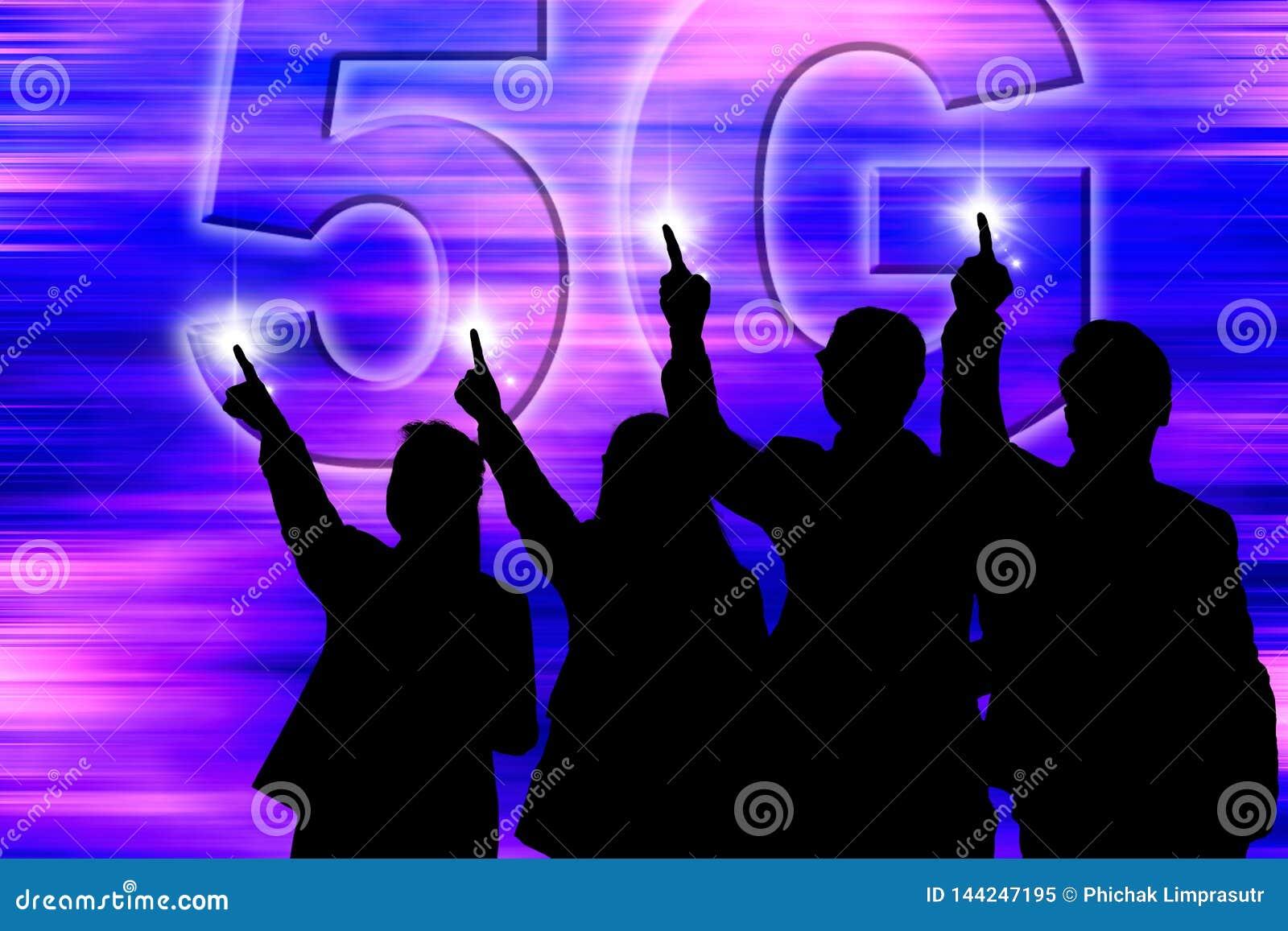 5G r?seau - la grande vitesse superbe palpable qui faite pour tous