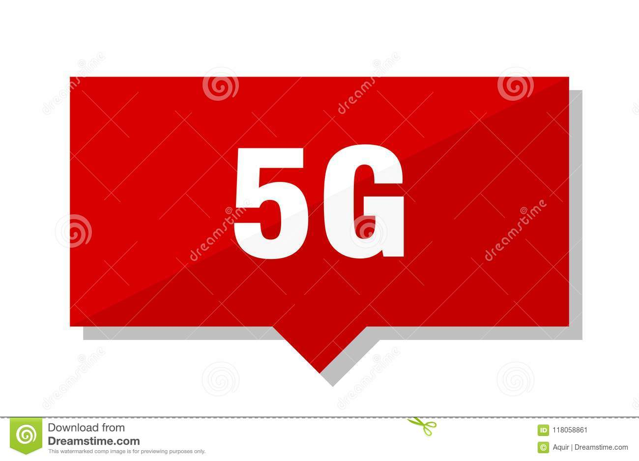 5g red tag stock vector  Illustration of sign, isolated