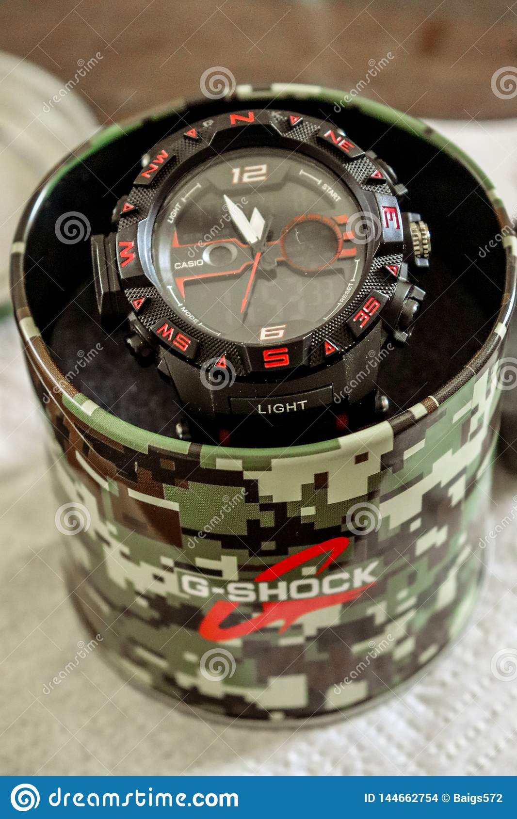 quality design c47ac 3d18a G_shock wrist watch editorial stock image. Image of clock ...