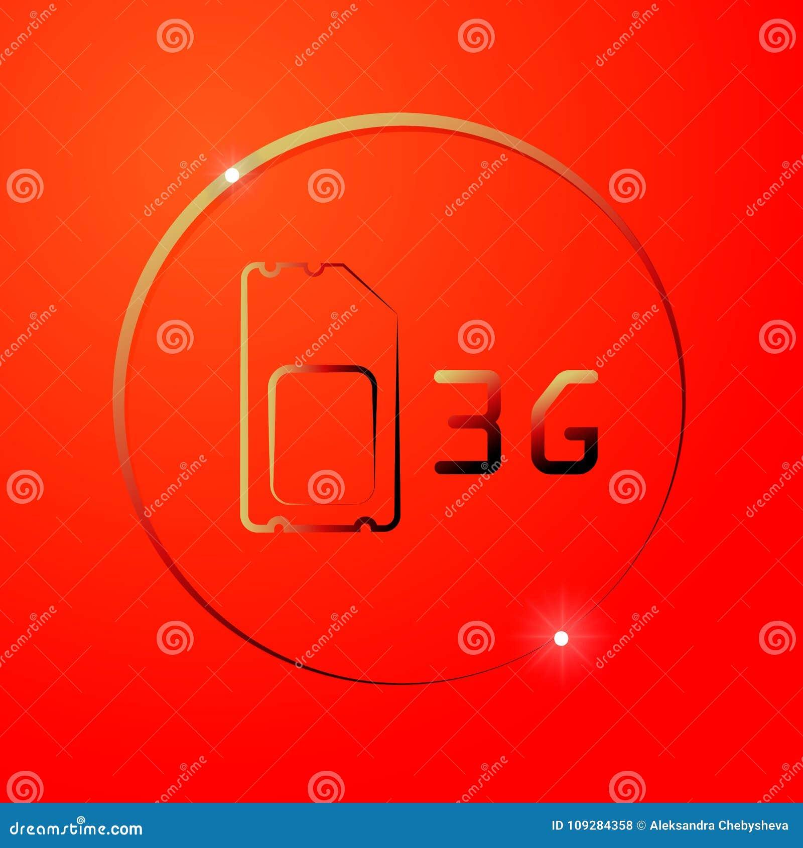 3G Sim Card  Mobile Telecommunications Technology Symbol