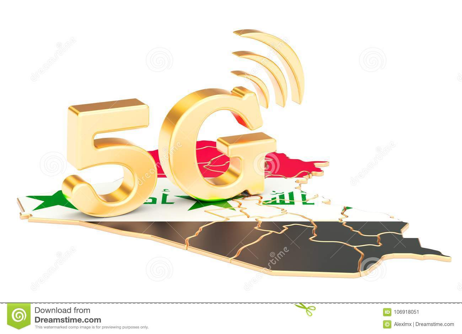 5G w Irackim pojęciu, 3D rendering