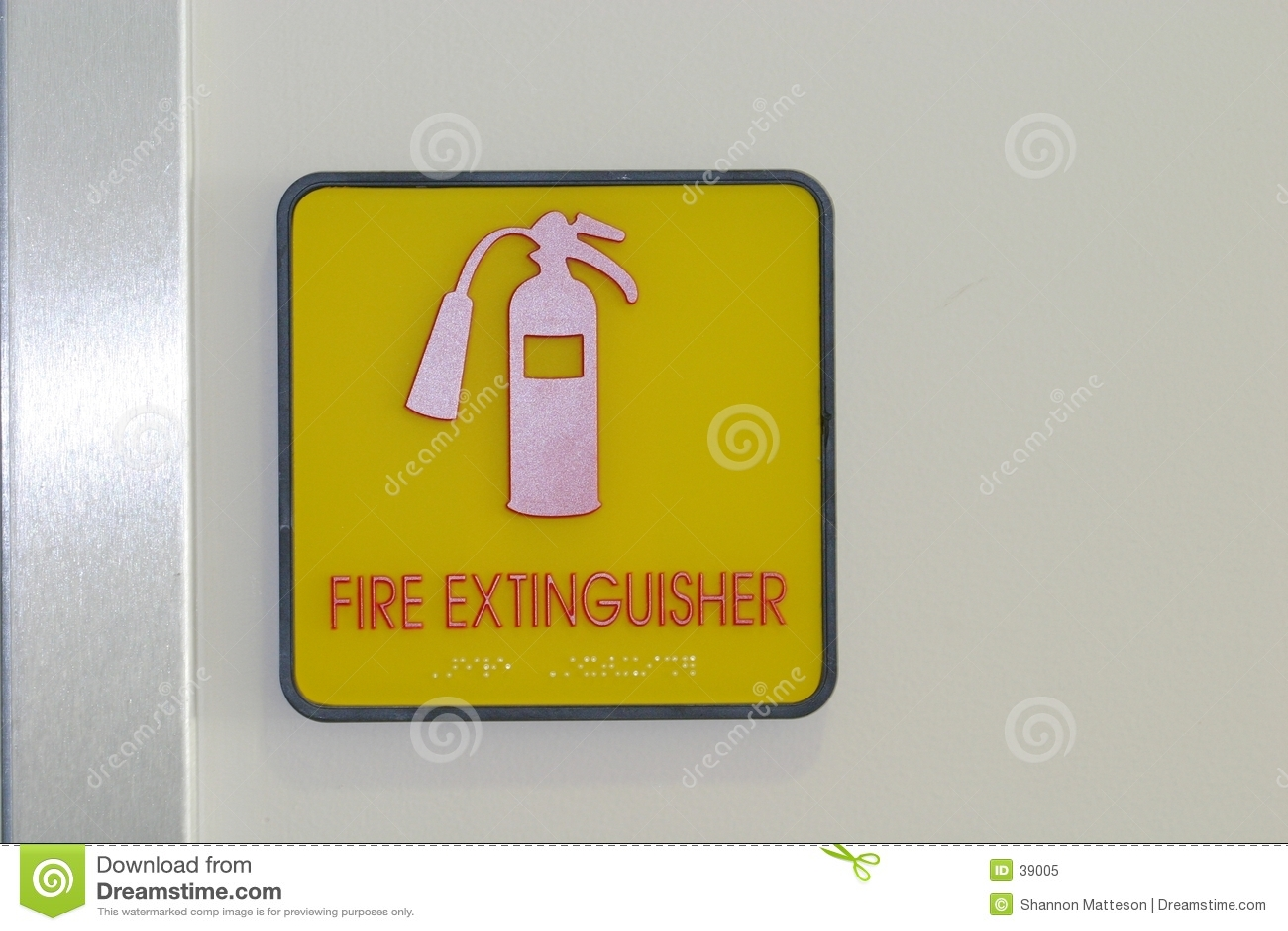 Gaśnica ogień znak