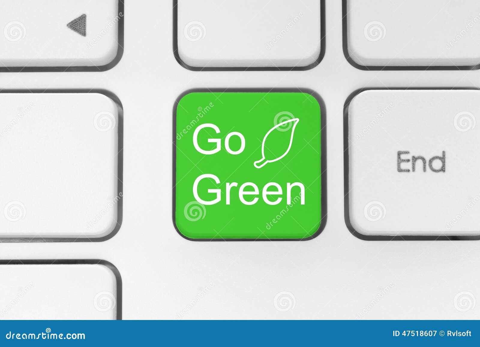 Ga groene knoop op toetsenbord