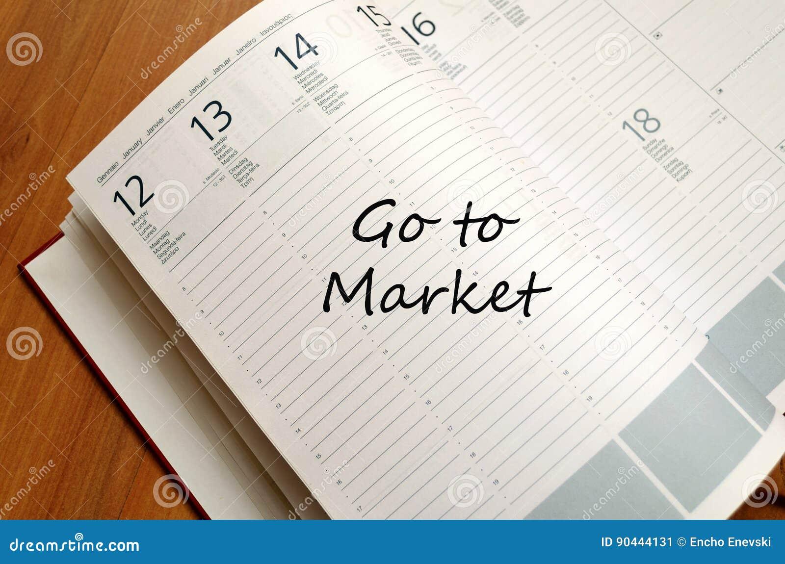 Ga naar de Blocnote van het marktconcept