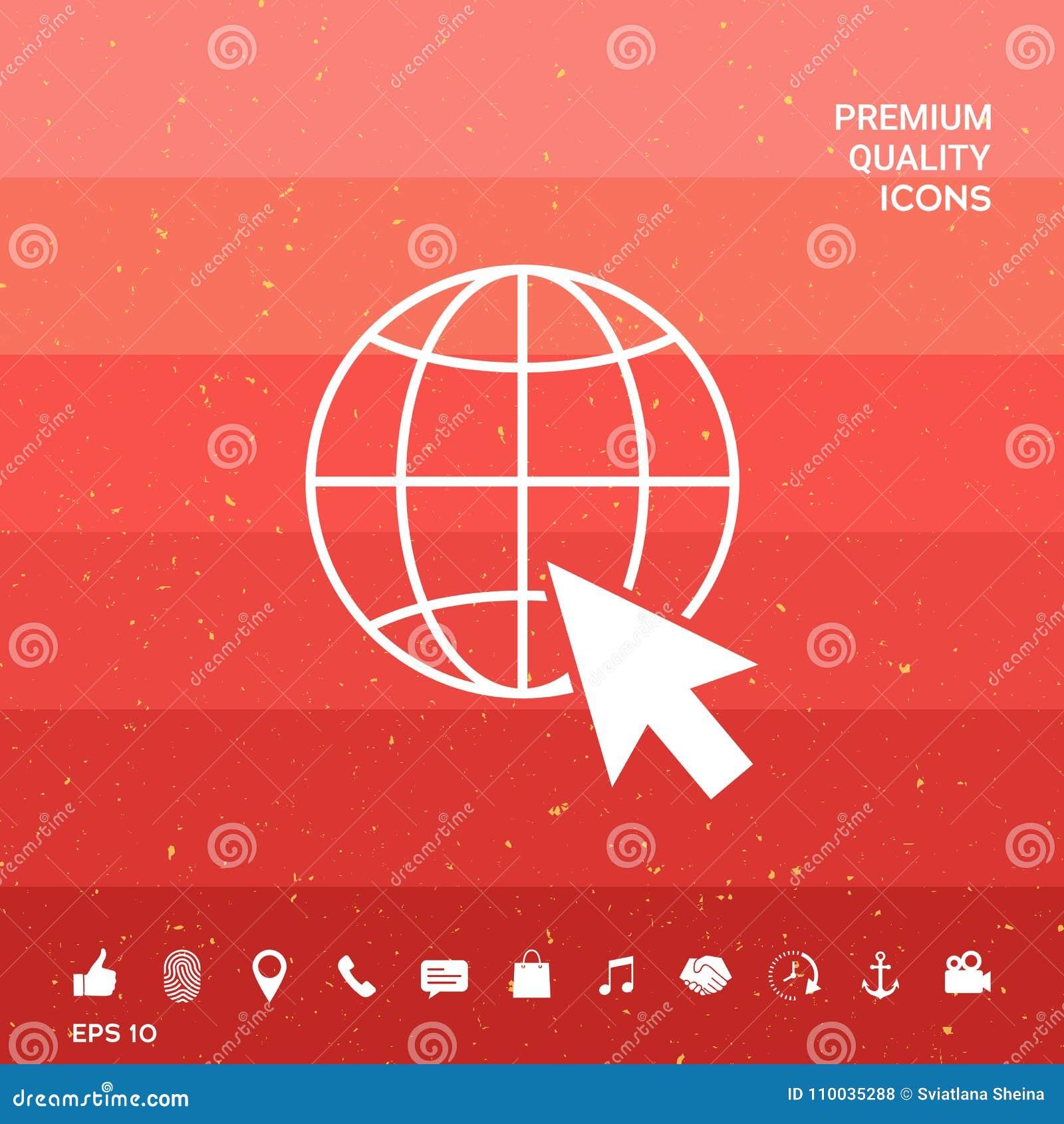 Ga naar Web, Internet-pictogram