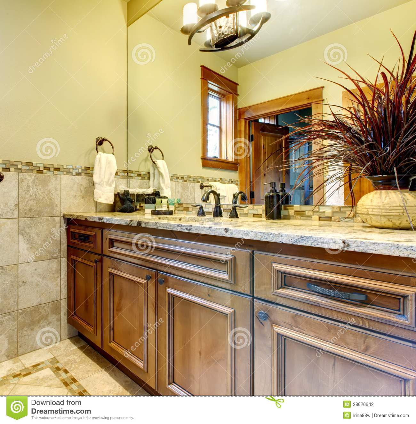 gabinetti di bagno di lusso nella casa della montagna