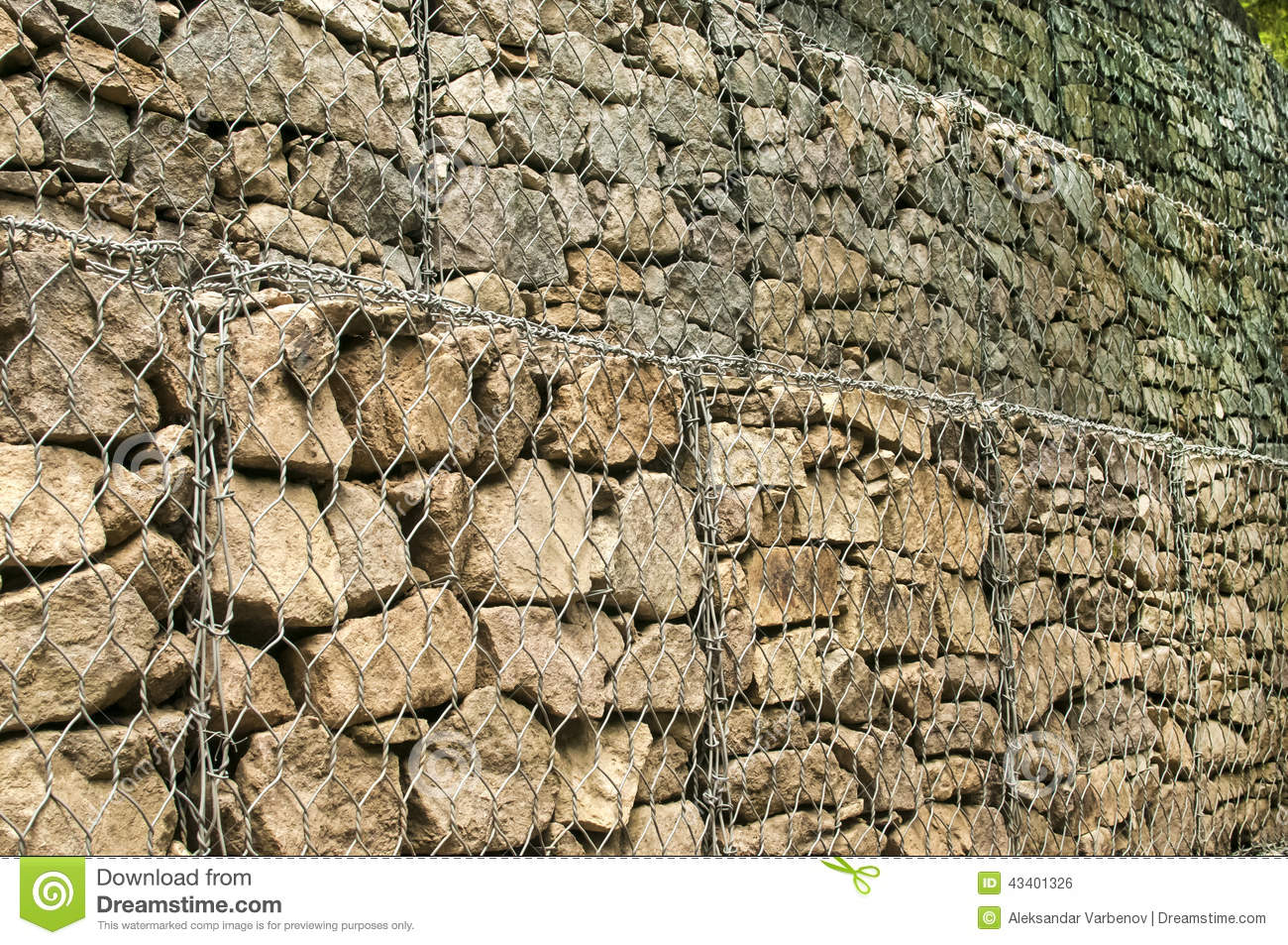 gabion baskets filled with stones stock photo image of gabion ballast 43401326. Black Bedroom Furniture Sets. Home Design Ideas