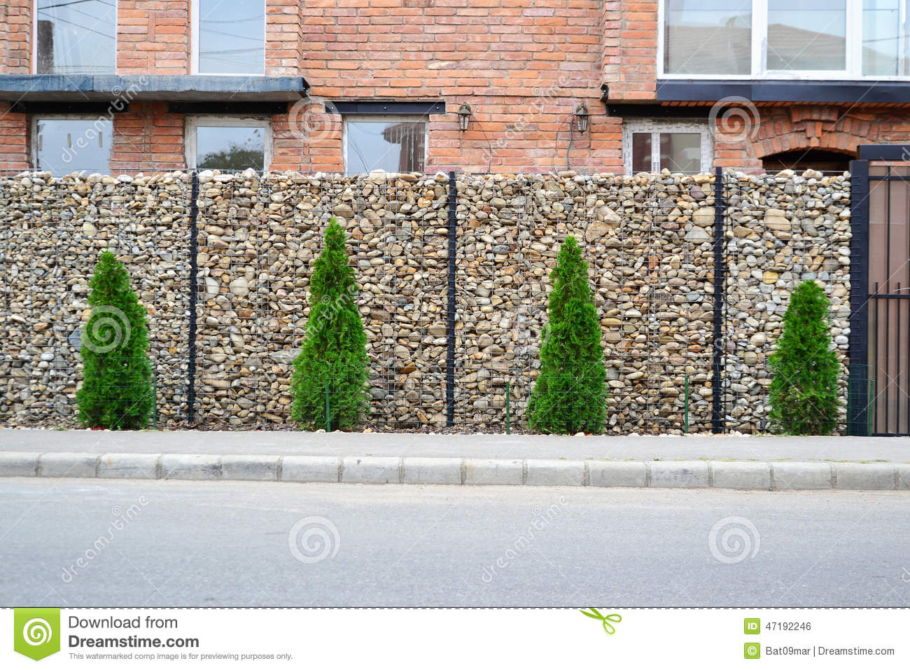 Gabion Mesh Wire Fencing Stock Photo Image 47192246