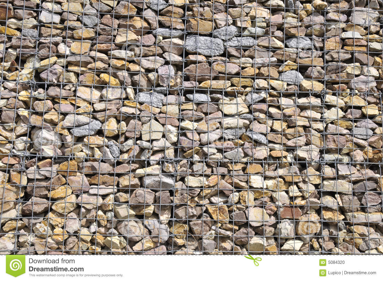 gabion wall stock photo image of multi cage fence retain 5084320. Black Bedroom Furniture Sets. Home Design Ideas