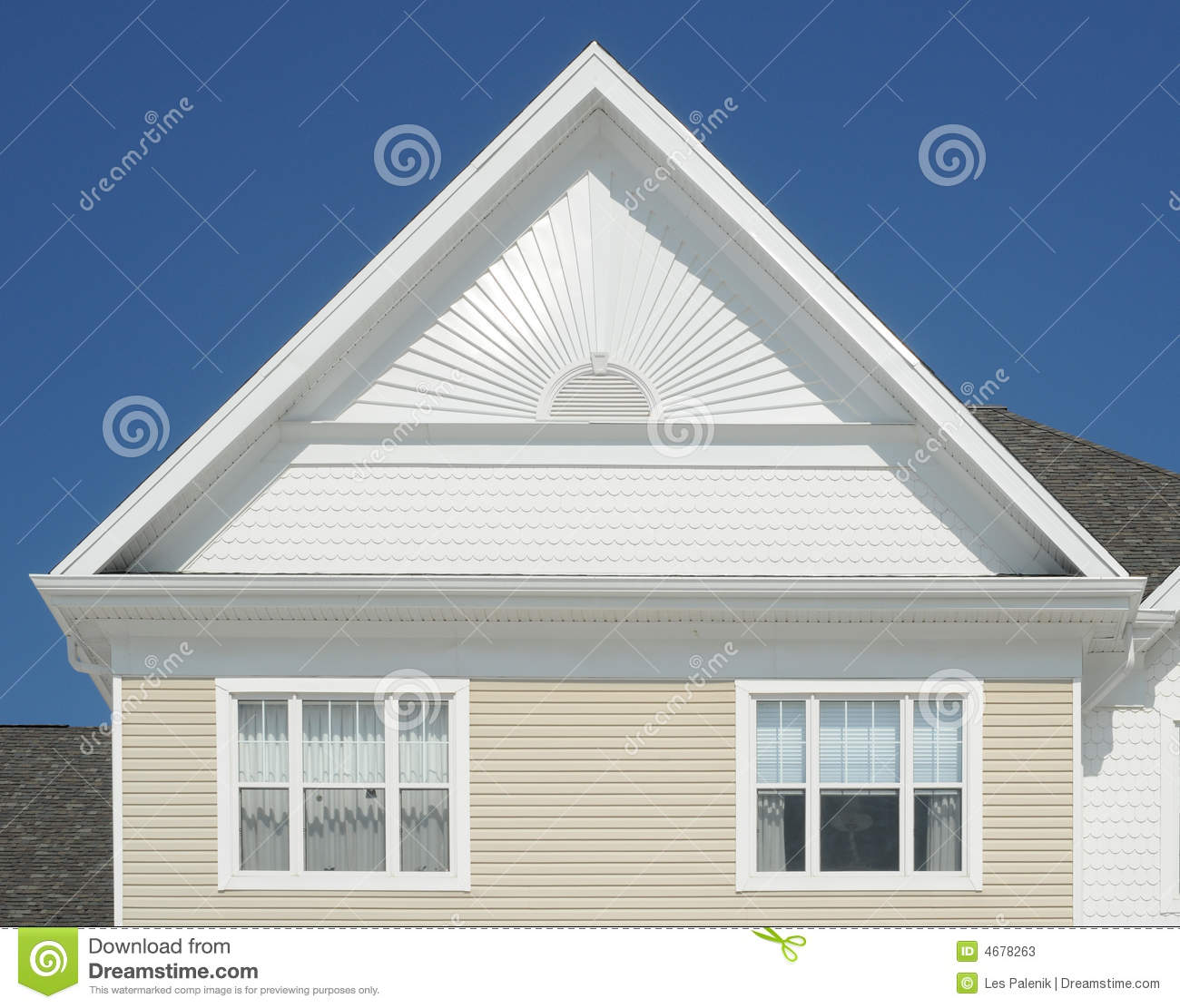 Picture Of A Gable Roof: Gable Roof On A House Stock Image. Image Of Triangle
