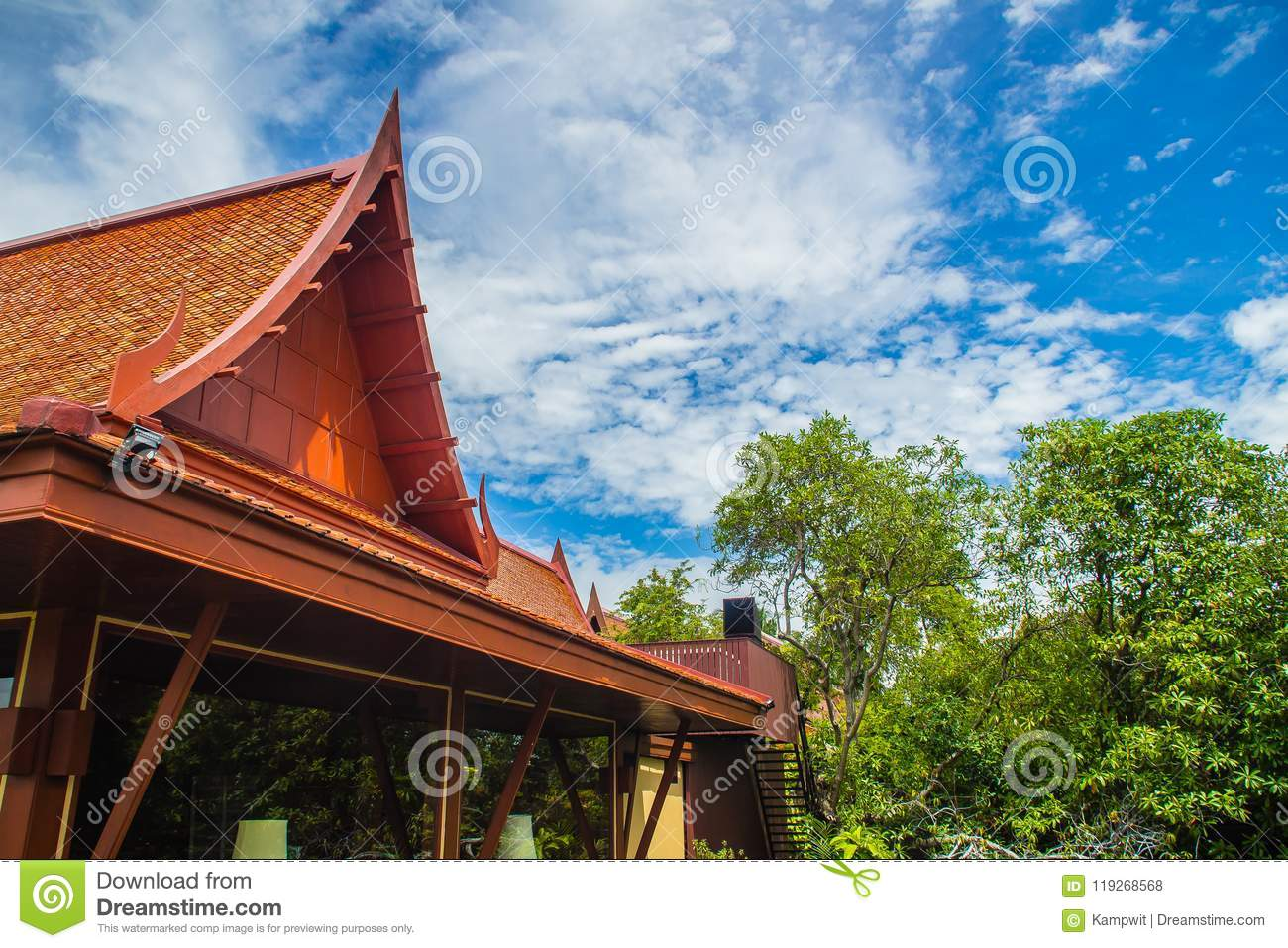 asian style roof gables picture
