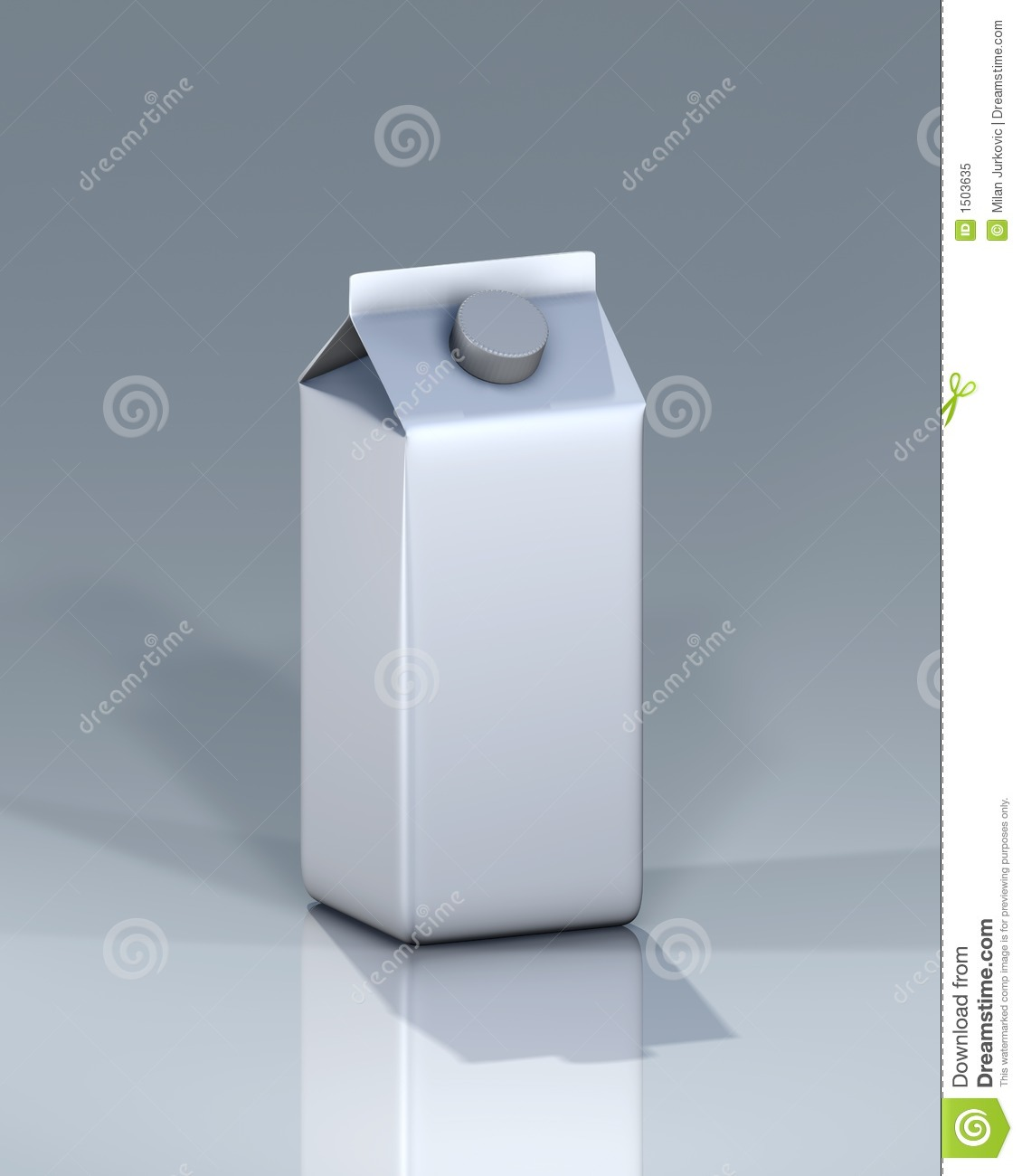 Gable Top Carton From Tetra Pak Stock Illustration