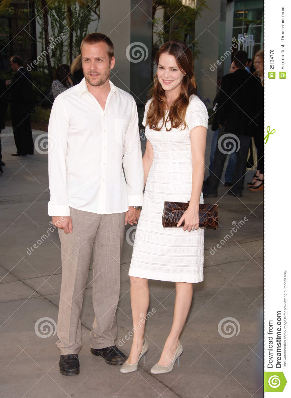 Actress JACINDA BARRETT & husband actor GABRIEL MACHT at the world ...