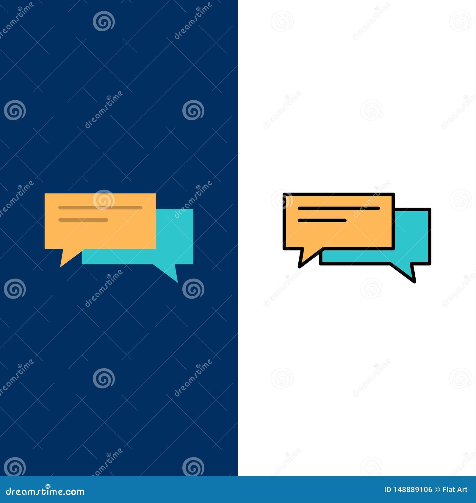 Gadka, bąbel, bąble, komunikacja, rozmowa, socjalny, mowa ikony Mieszkanie i linia Wypełniający ikony Ustalony Wektorowy Błękitny