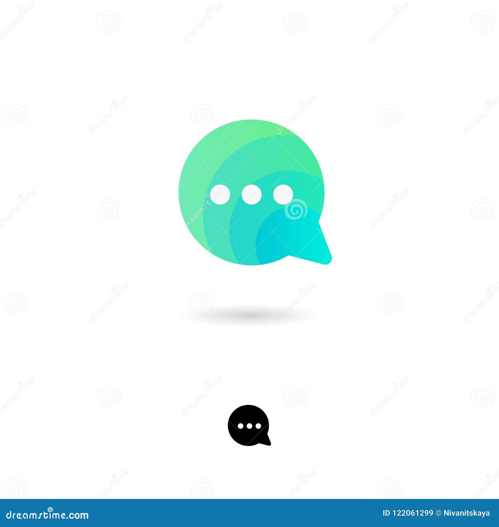 Gadki ikona, UI Sieć guzik Gadka, komunikacja, rozmowa, rozmowa, ewidencyjnej wymiany ikona Bąbla symbol z cieniem