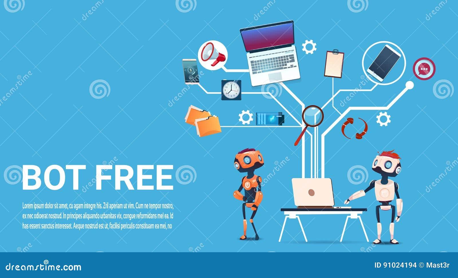 Gadki larwy Bezpłatnego robota Wirtualna pomoc strony internetowej Lub wiszącej ozdoby zastosowania, Sztucznej inteligenci pojęci