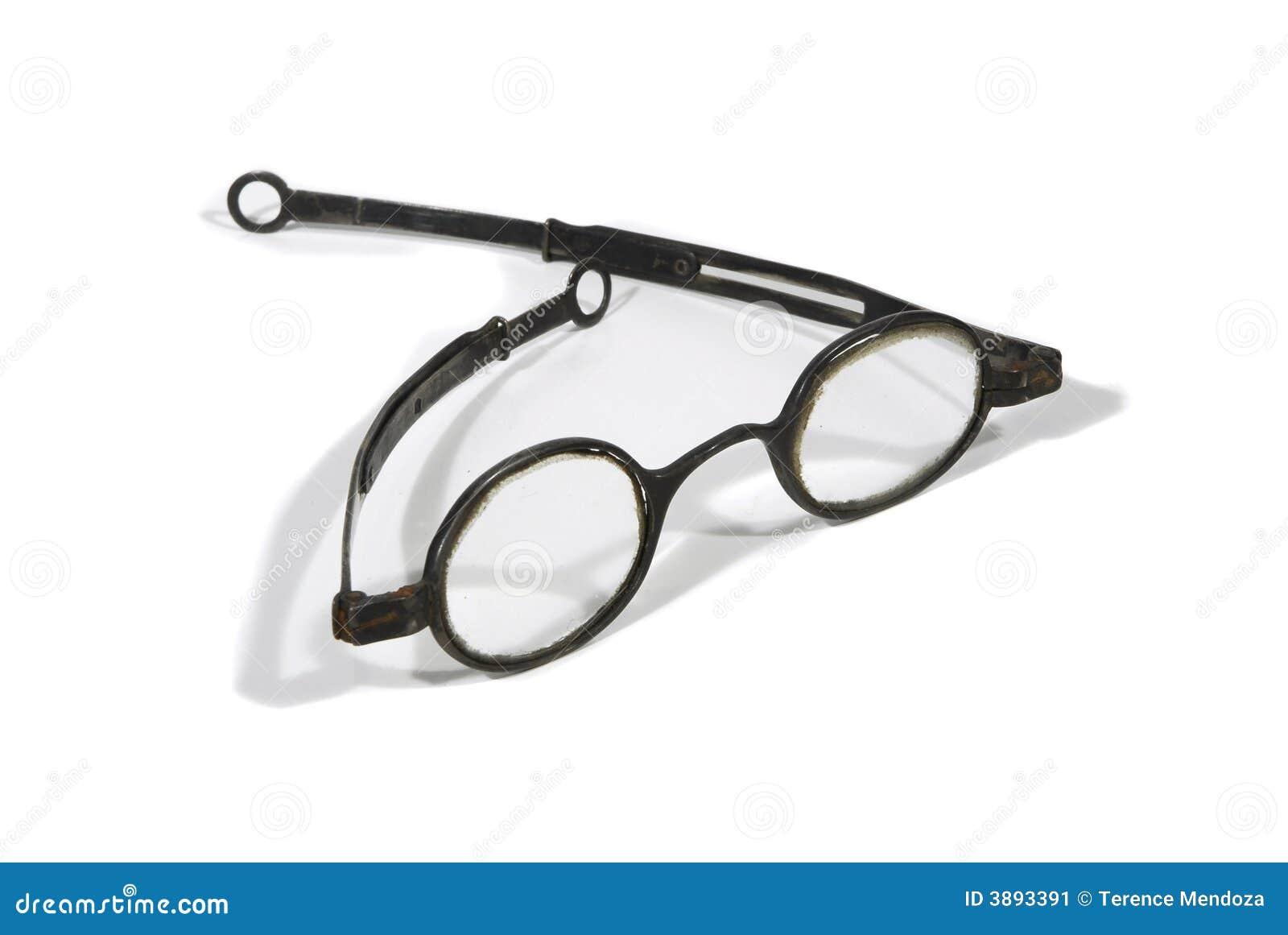 Gafas redondas antiguas foto de archivo. Imagen de académico - 3893388