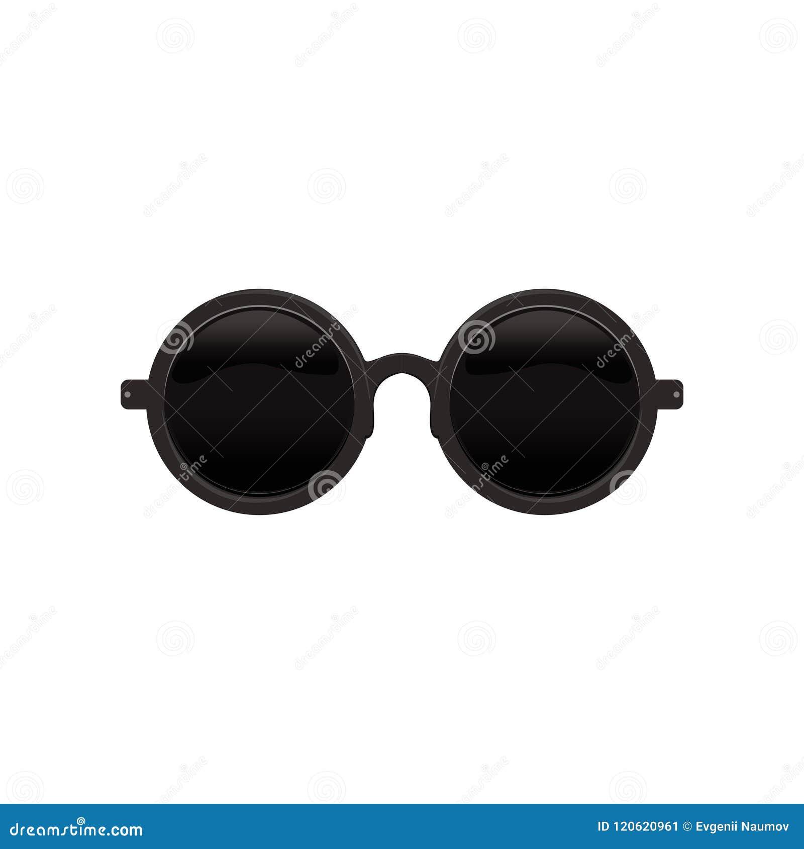 5cdb98e449 Gafas de sol circulares redondas elegantes con las lentes y el marco  metálico negros Eyewear protector