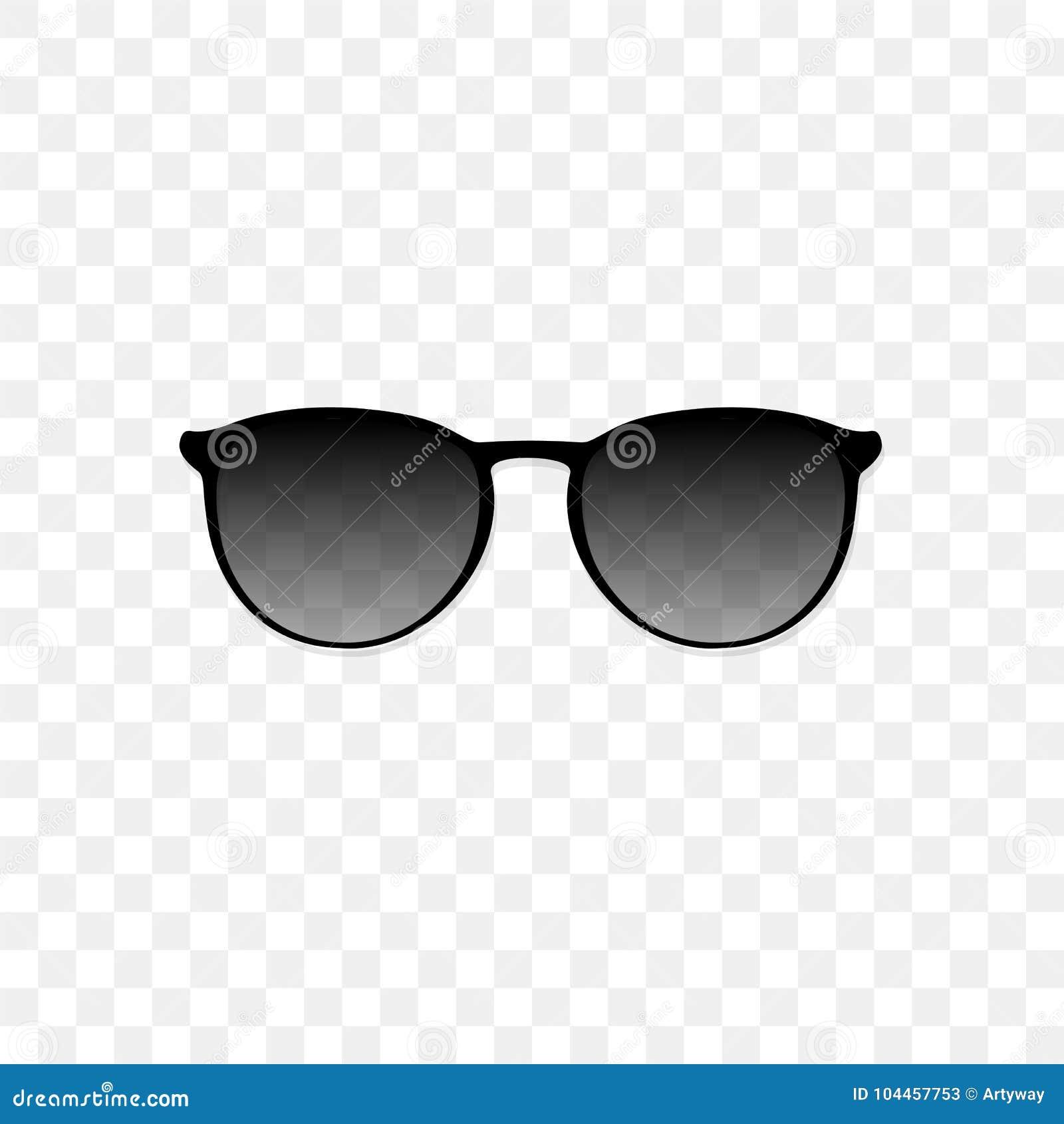 Gafas Vidrio Realistas Sol En Con Fondo Negro Translúcido De Un f6ygYb7