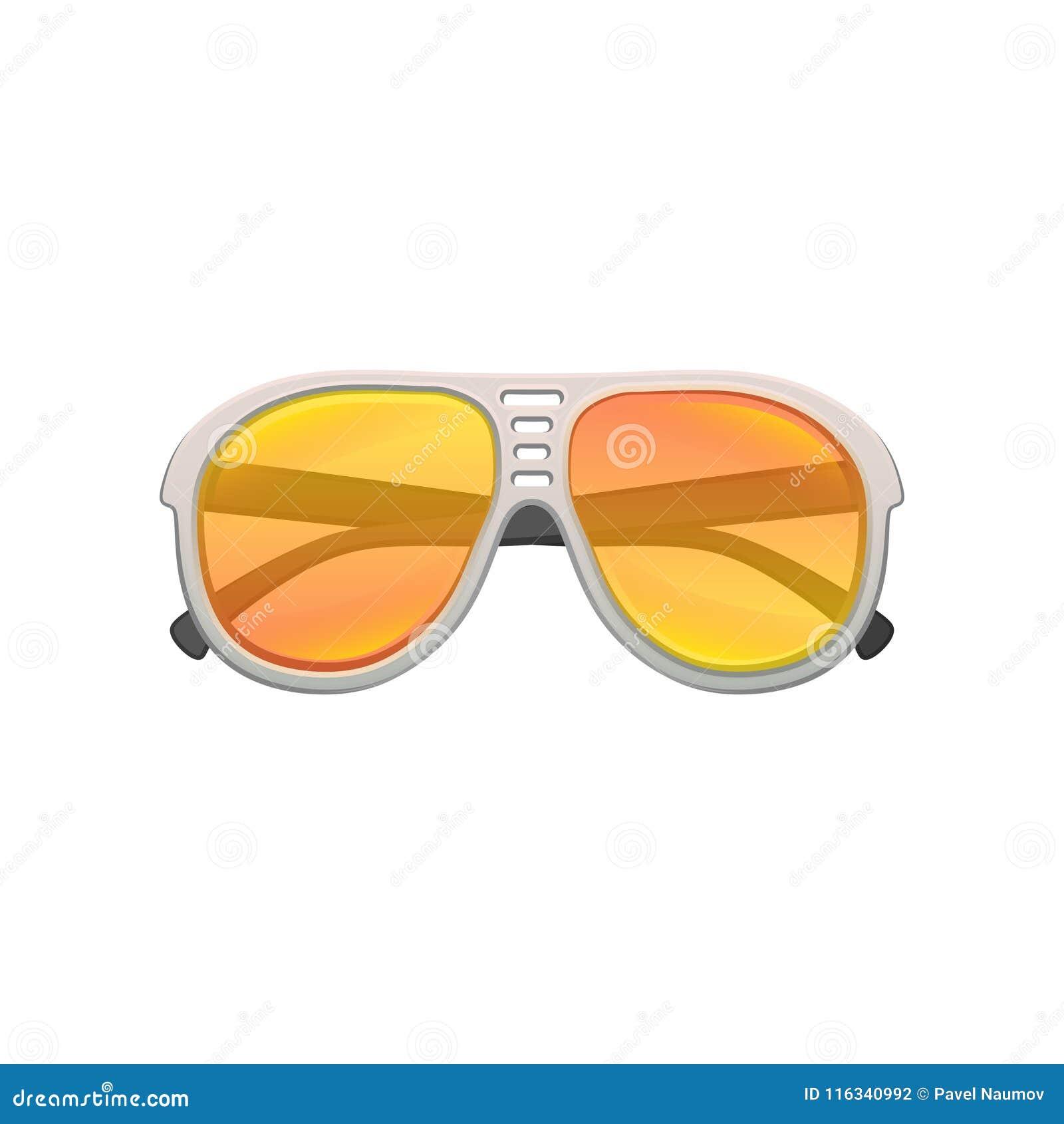Gafas De Sol Tipo Aviador Con Las Lentes Amarillo-naranja De La ...