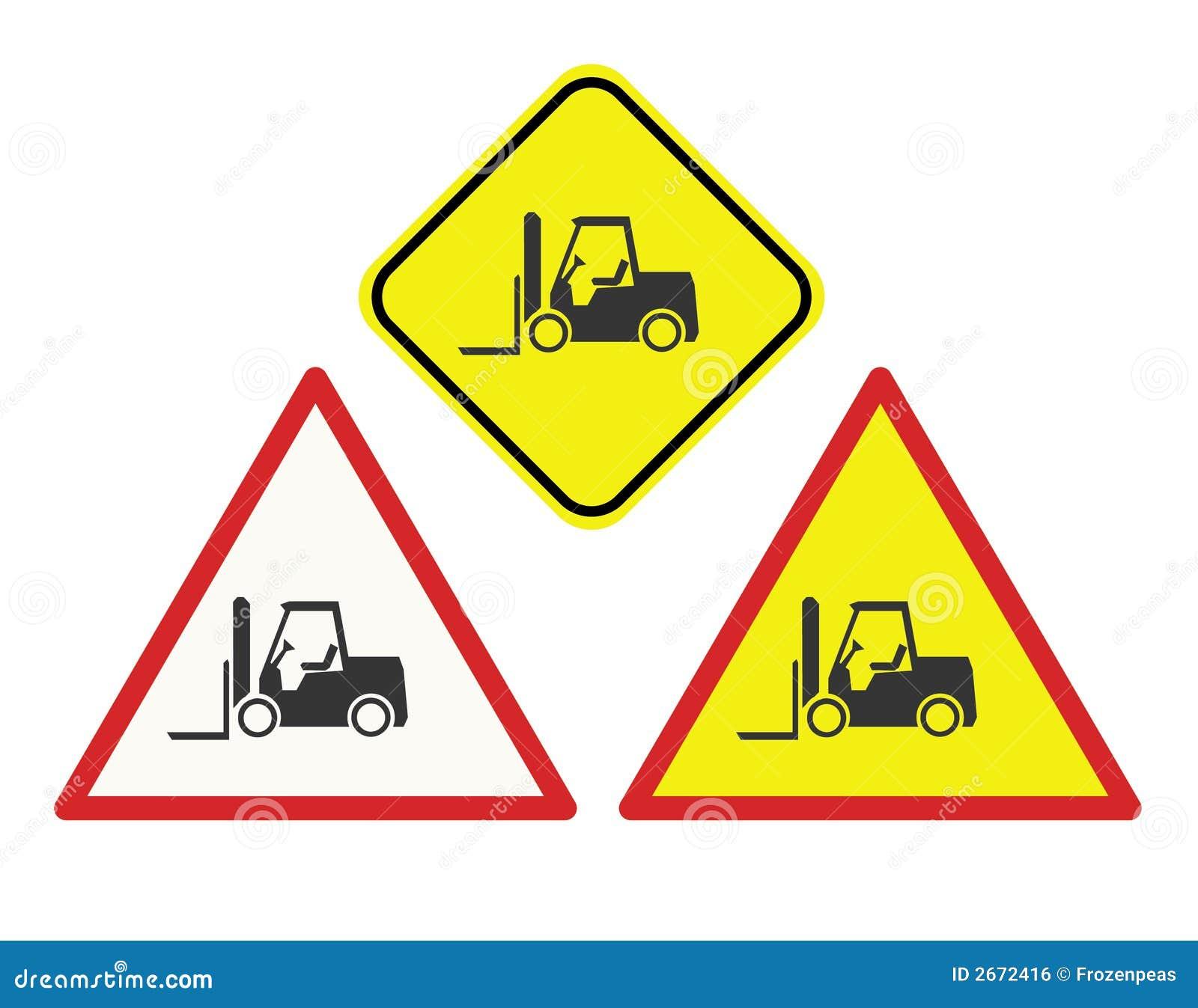 Gaffeltrucken undertecknar varning